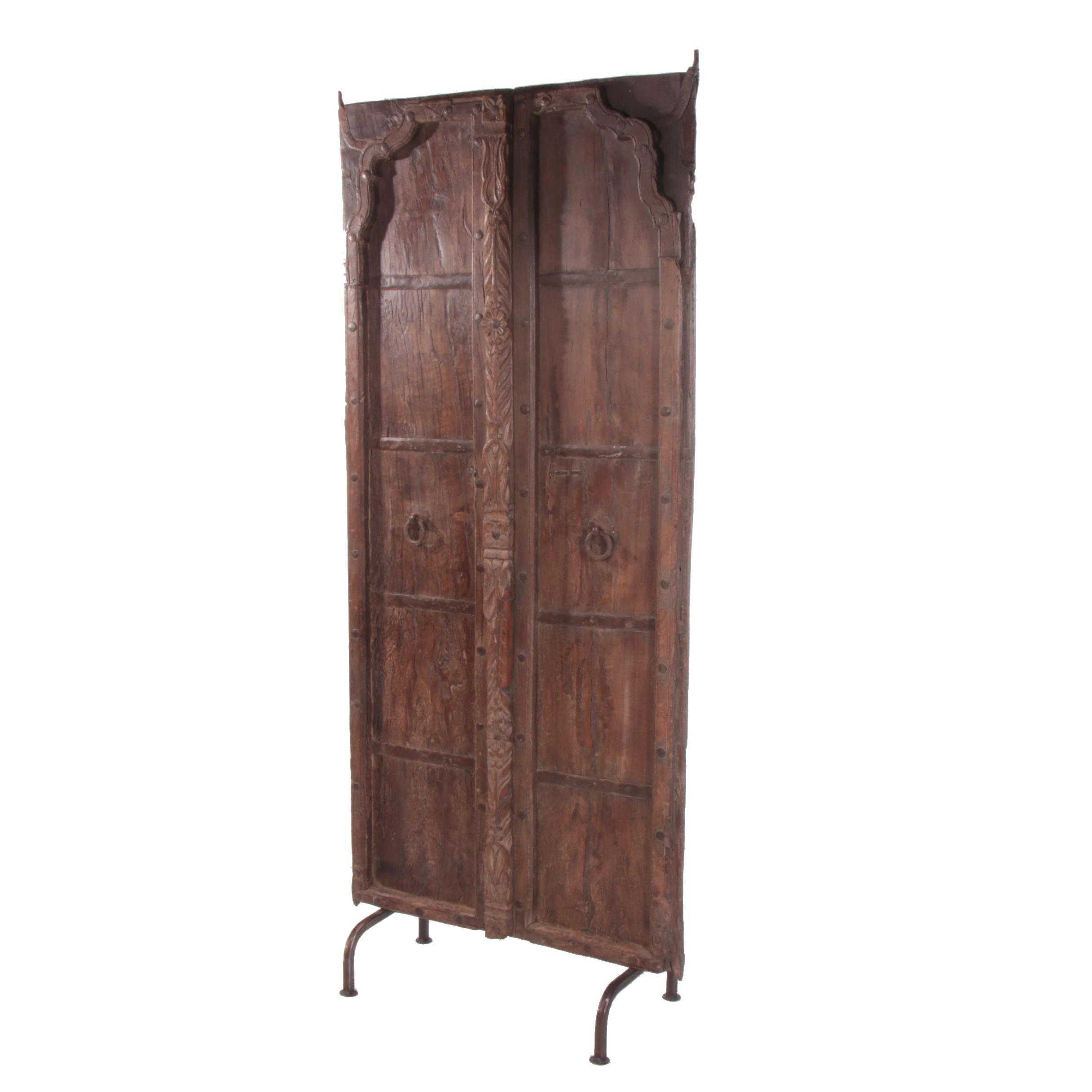 Indian Hardwood Door on Stand