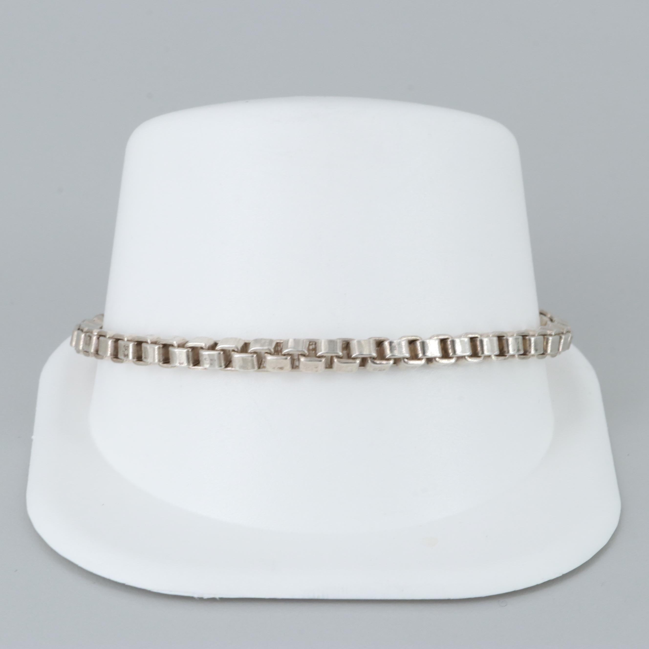 """Tiffany & Co. """"Venetian Link"""" Sterling Silver Bracelet"""