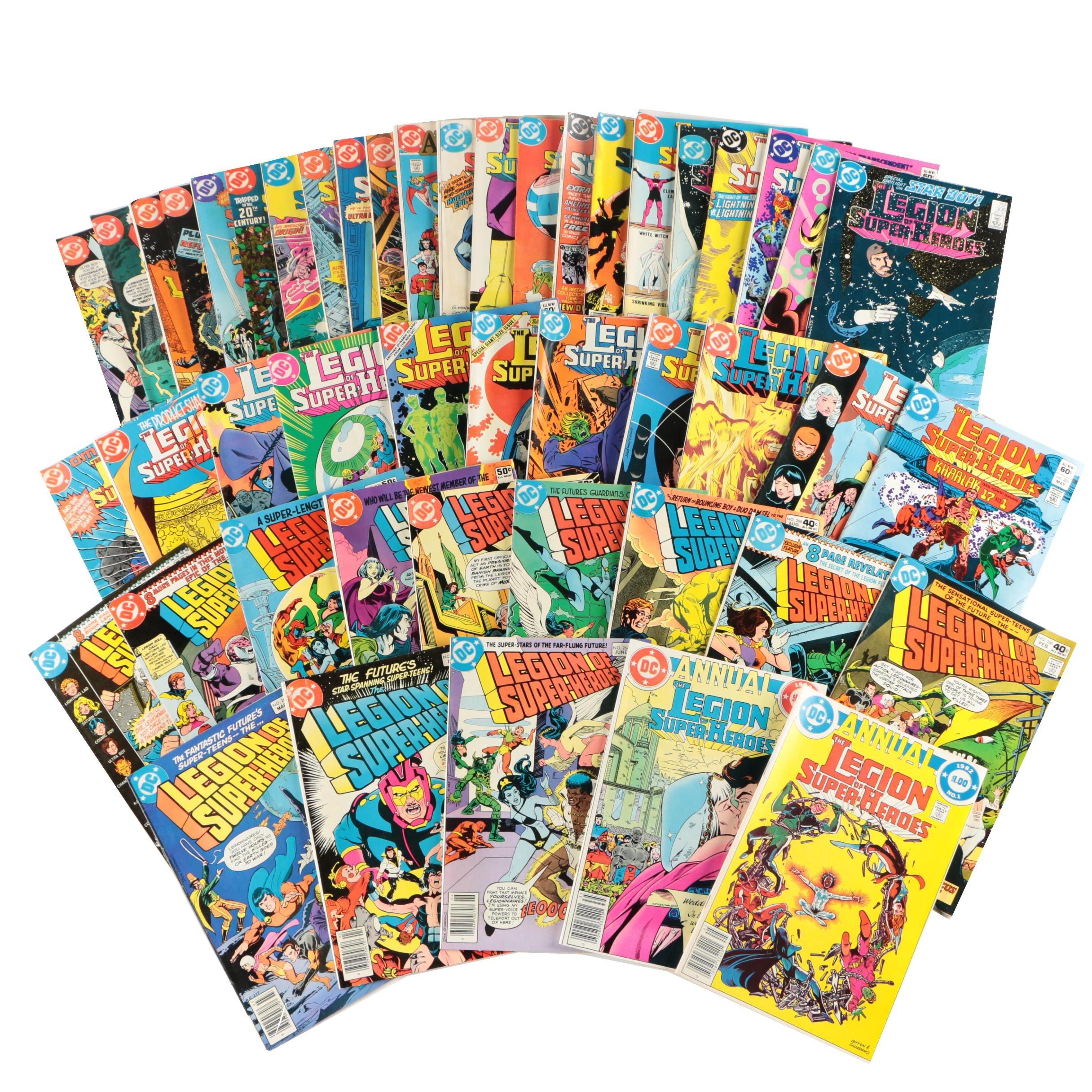 """DC Comics """"The Legion of Super-Heroes"""" Comic Books, 1980s"""