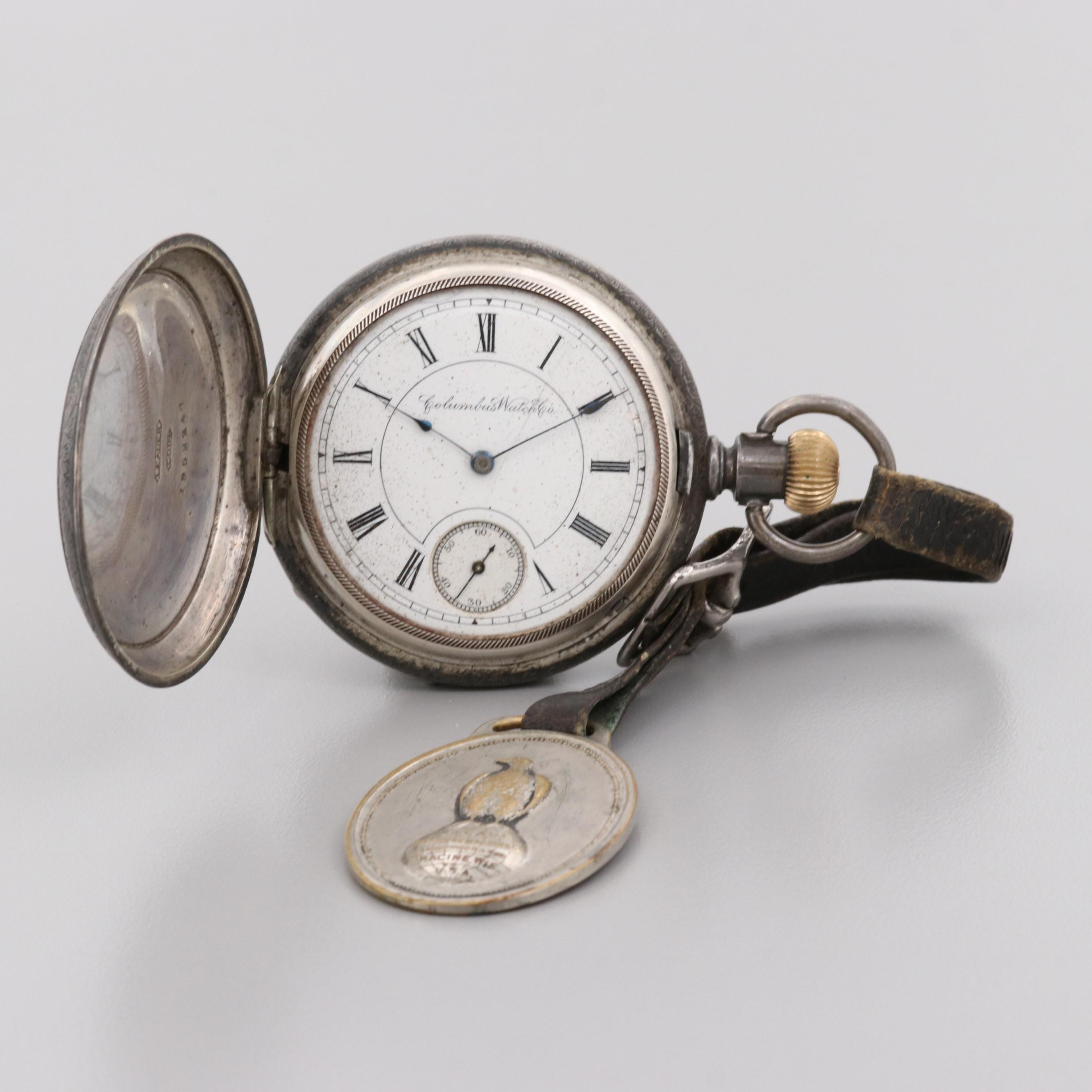 Columbus Watch Co. Coin Silver Pocket Watch, 1892
