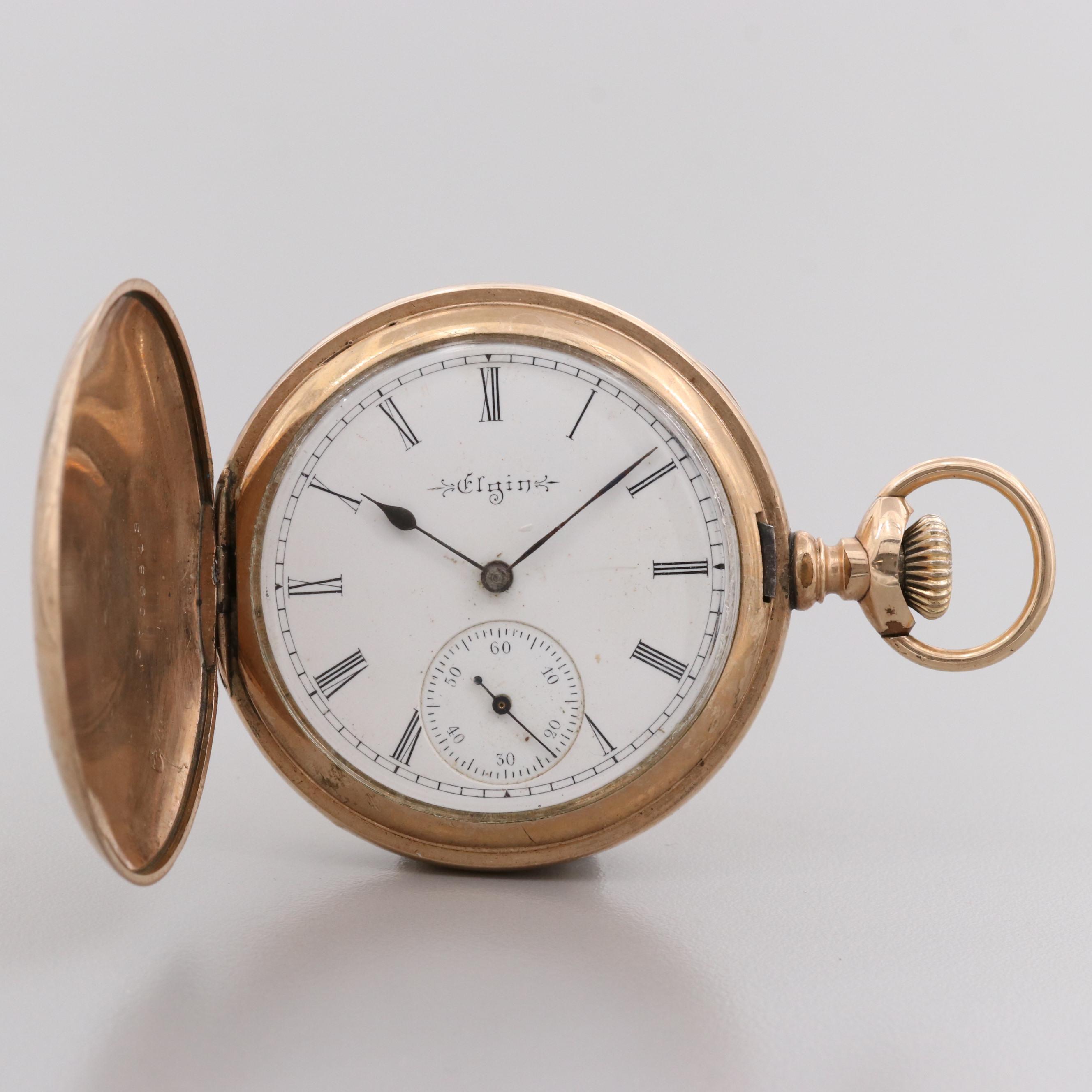 Antique Elgin Gold Filled Hunter Case Pocket Watch, 1899
