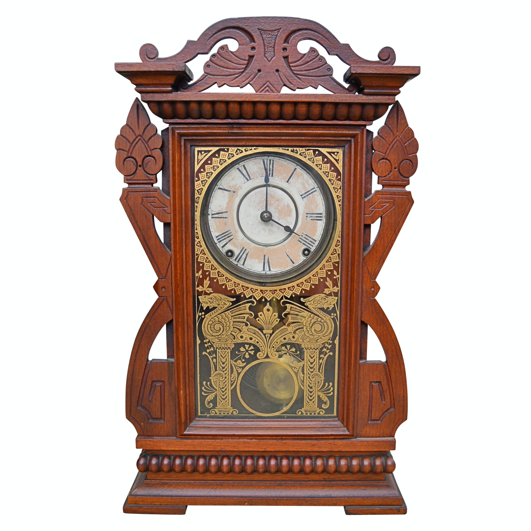 Seth Thomas Eastlake Mantel Clock, Late 19th to Early 20th Century