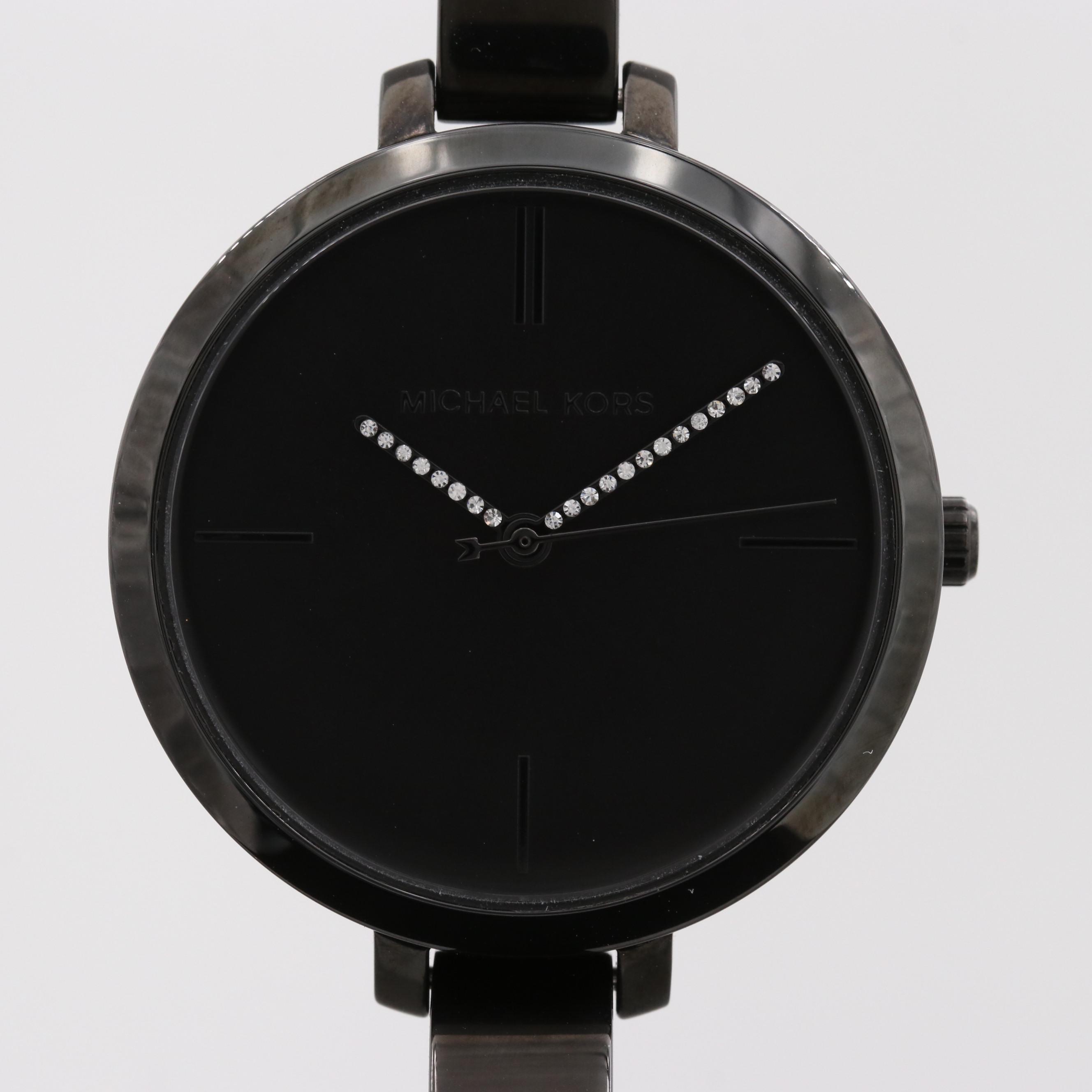 Michael Kors Black PVD Quartz Wristwatch