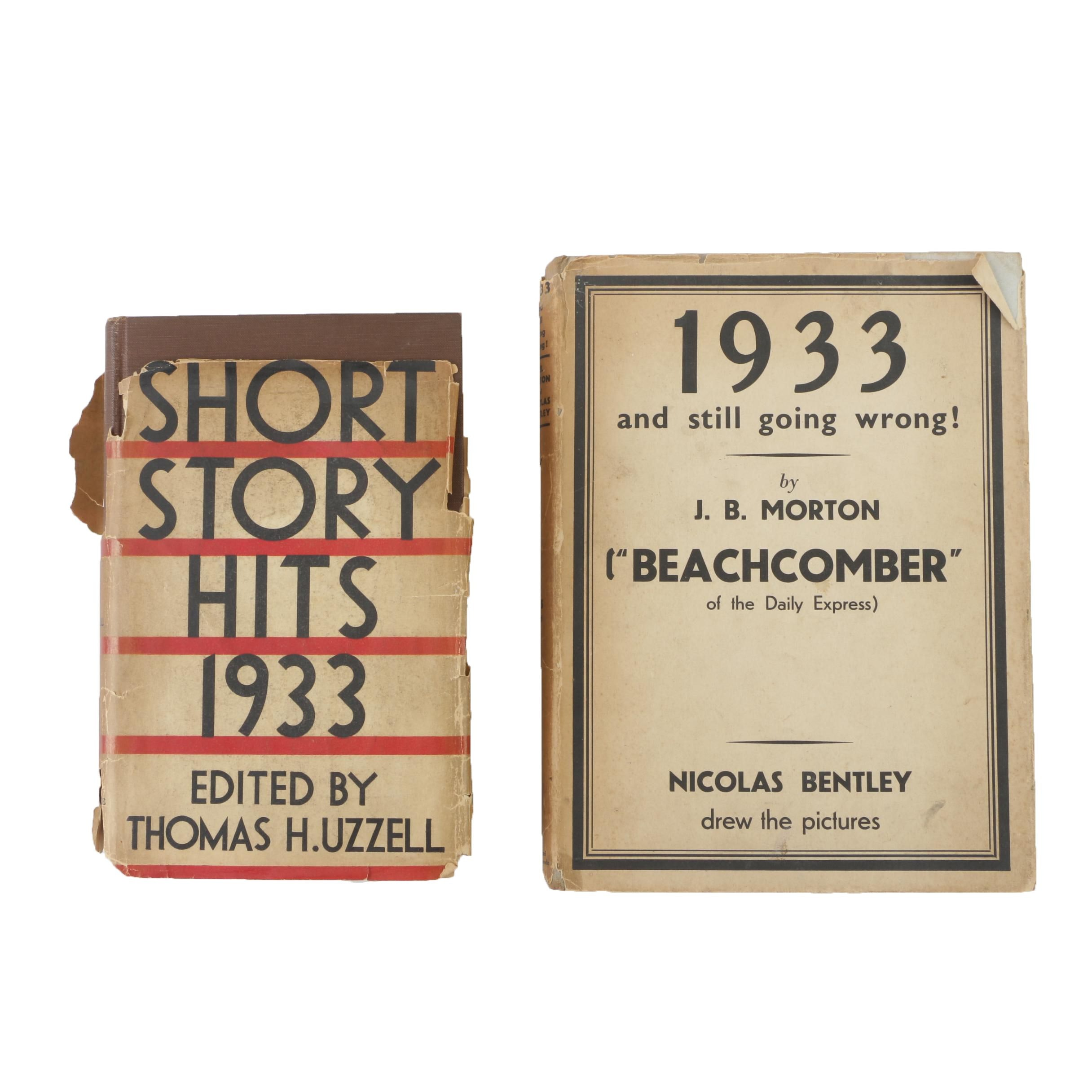 """First Edition """"Short Story Hits 1933"""" and """"1933 and Still Going Wrong!"""""""