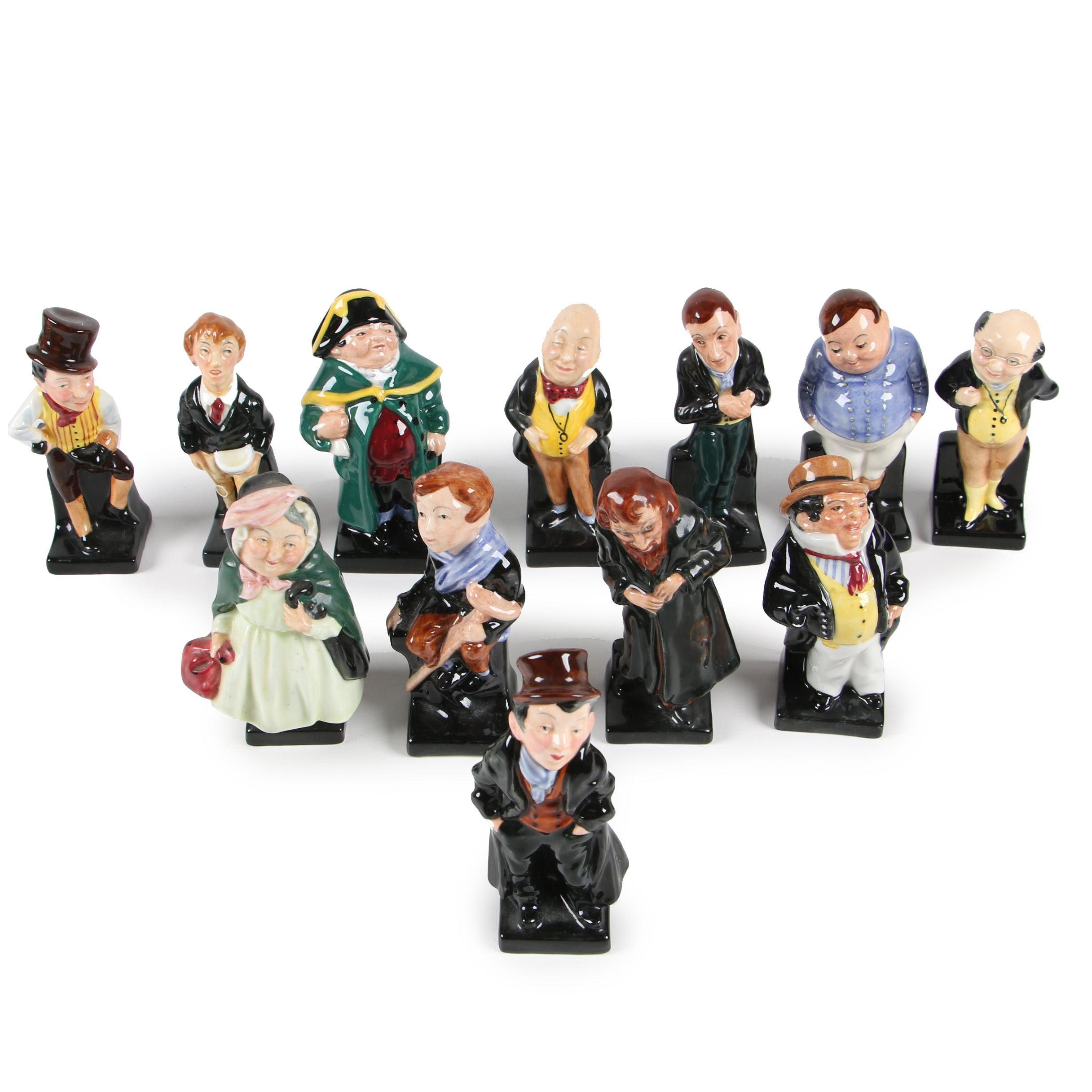Royal Doulton Charles Dickens Miniature Figurines, Mid-Century