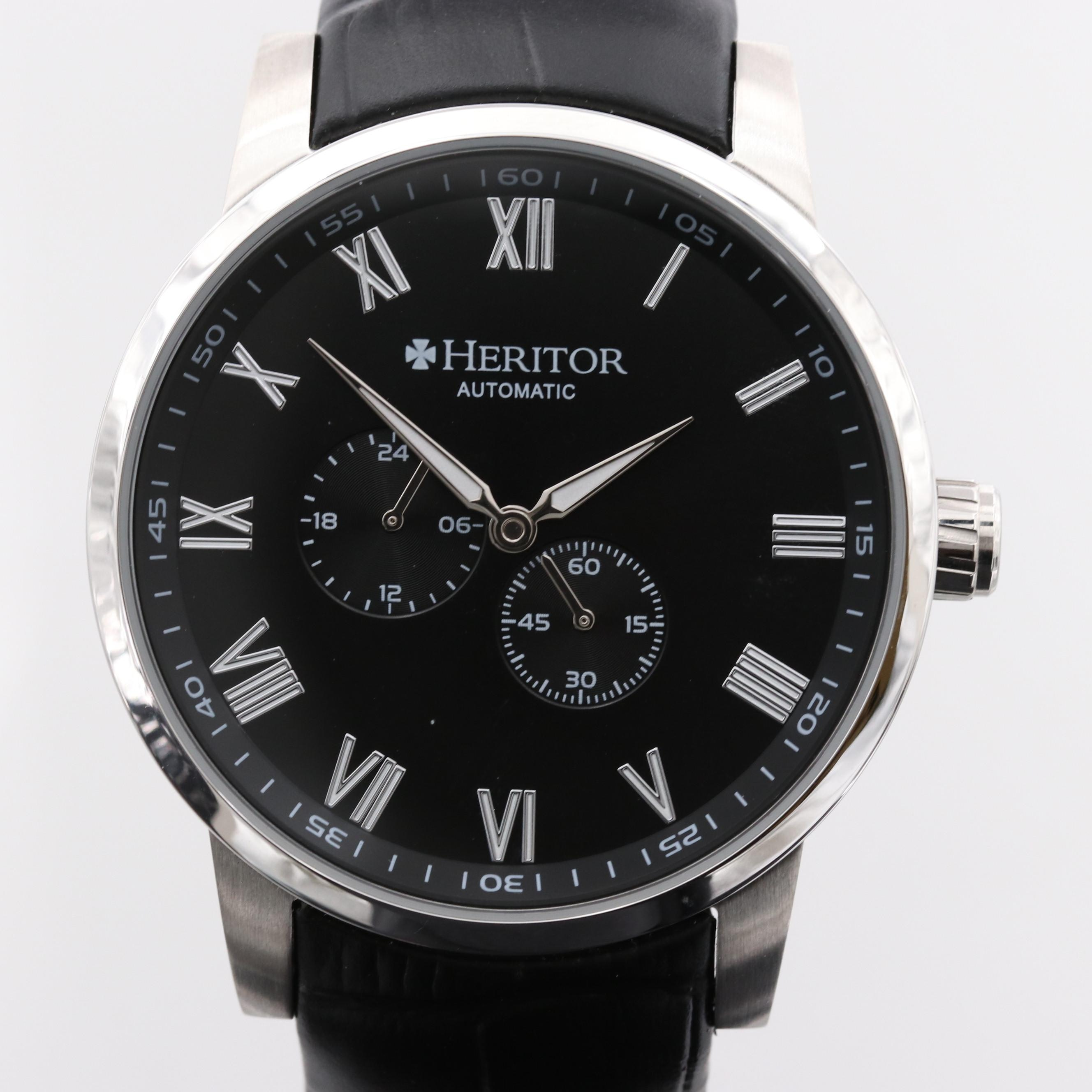 Heritor Romulus Stainless Steel Automatic Wristwatch