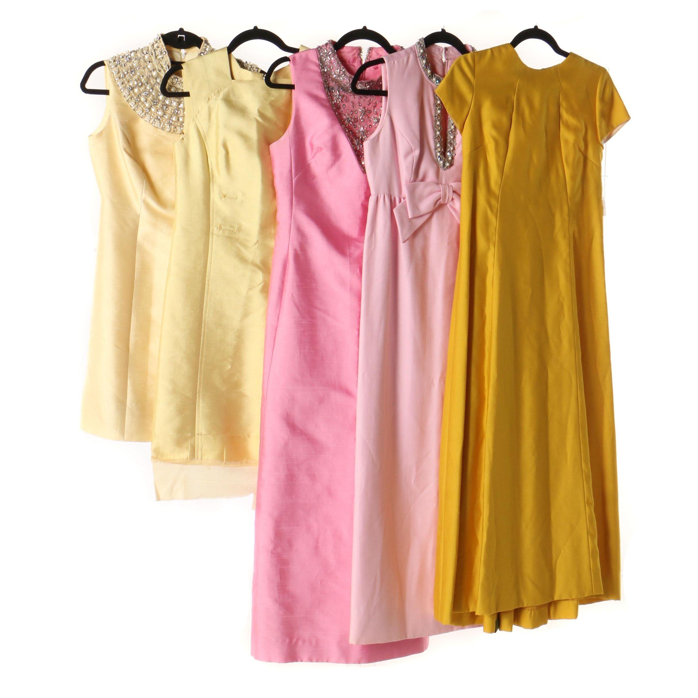 Embellished Gowns Including Jack Bryan Cleopatra Inspired Collar, Vintage