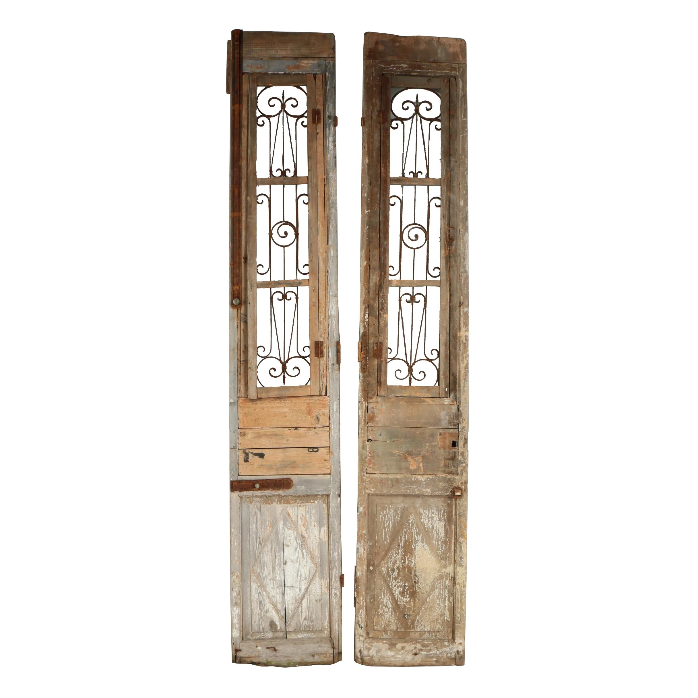 Salvaged Pine French Doors