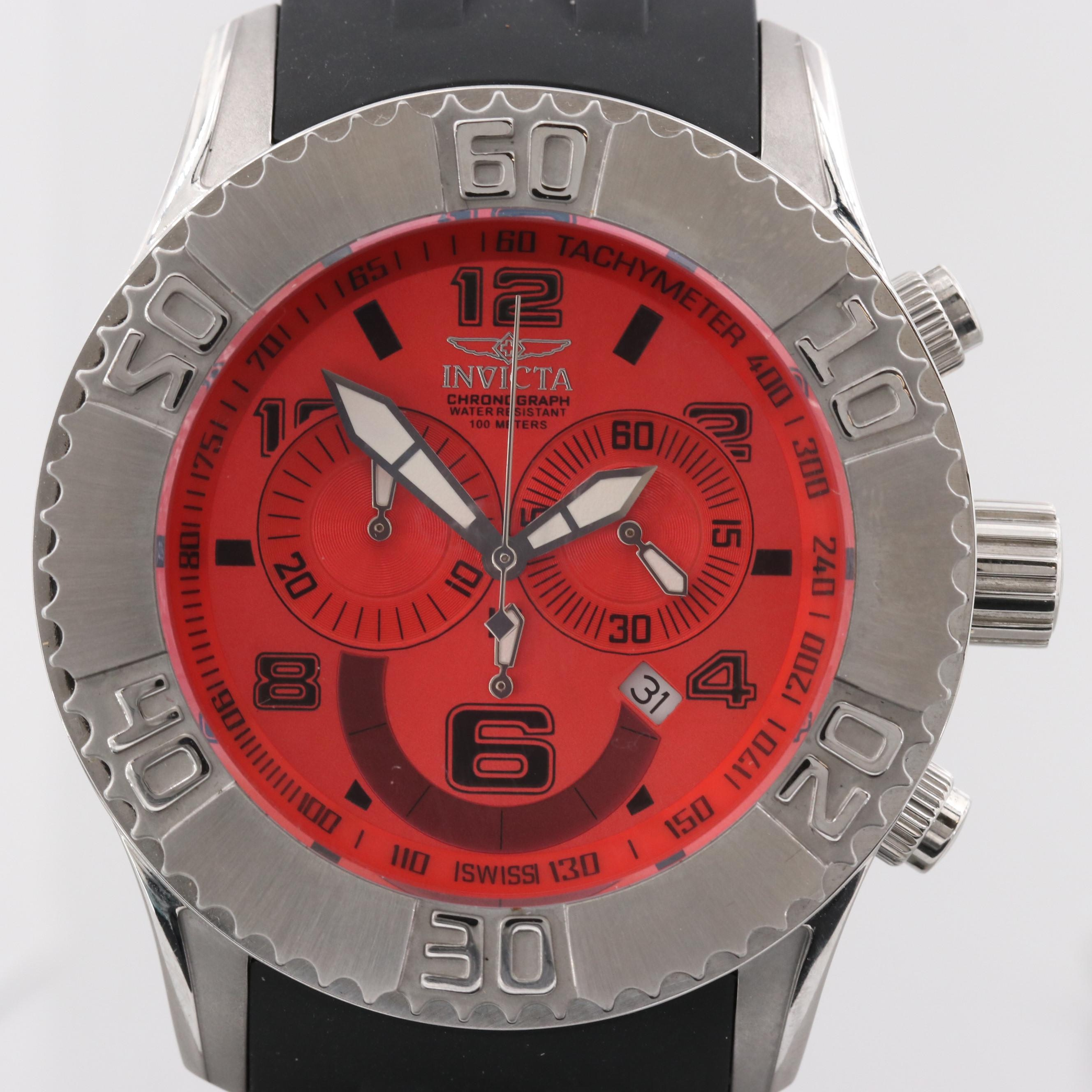 Invicta Seaspider Stainless Steel Quartz Chronograph Wristwatch