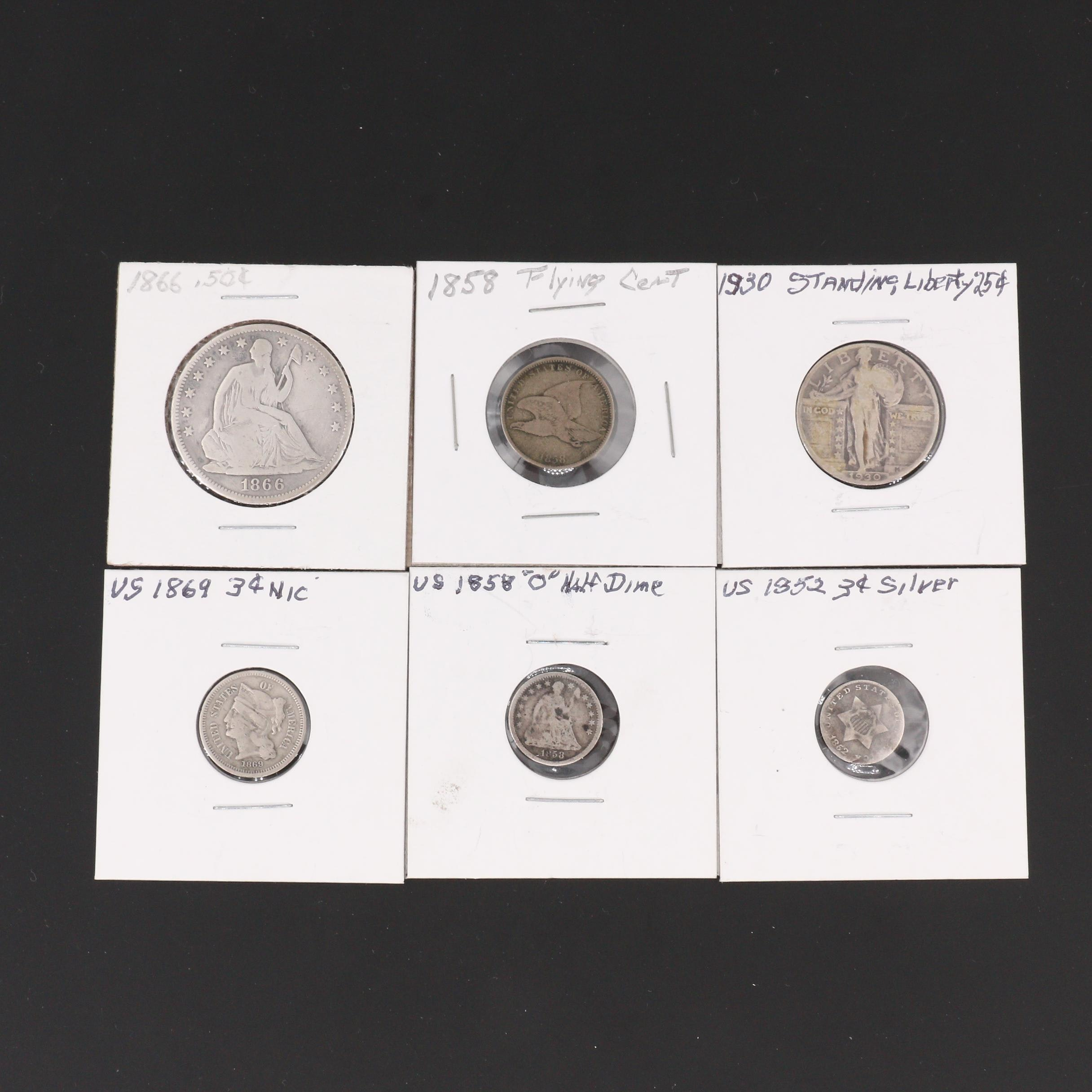Group of Six Various U.S. Coins