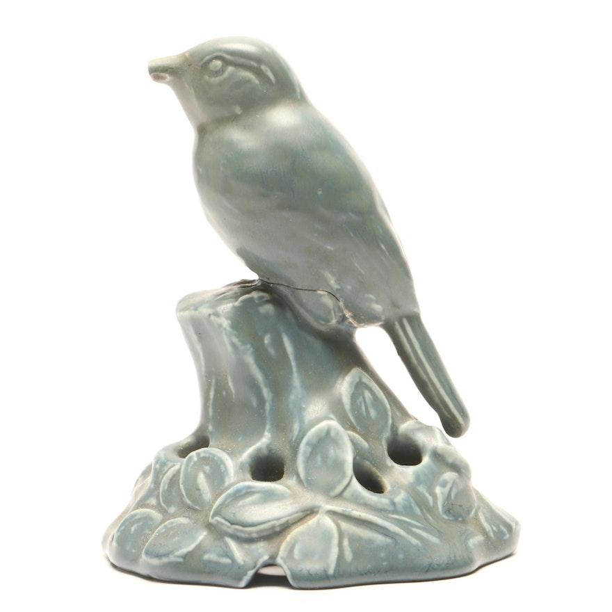 1924 Rookwood Pottery Bird Floral Frog