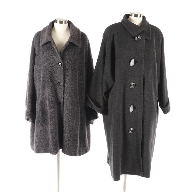 4d3766293ca Cinzia Rocca Grey Wool Blend Jacket and Cynthia DeWolfe Grey Wool Coat |  EBTH