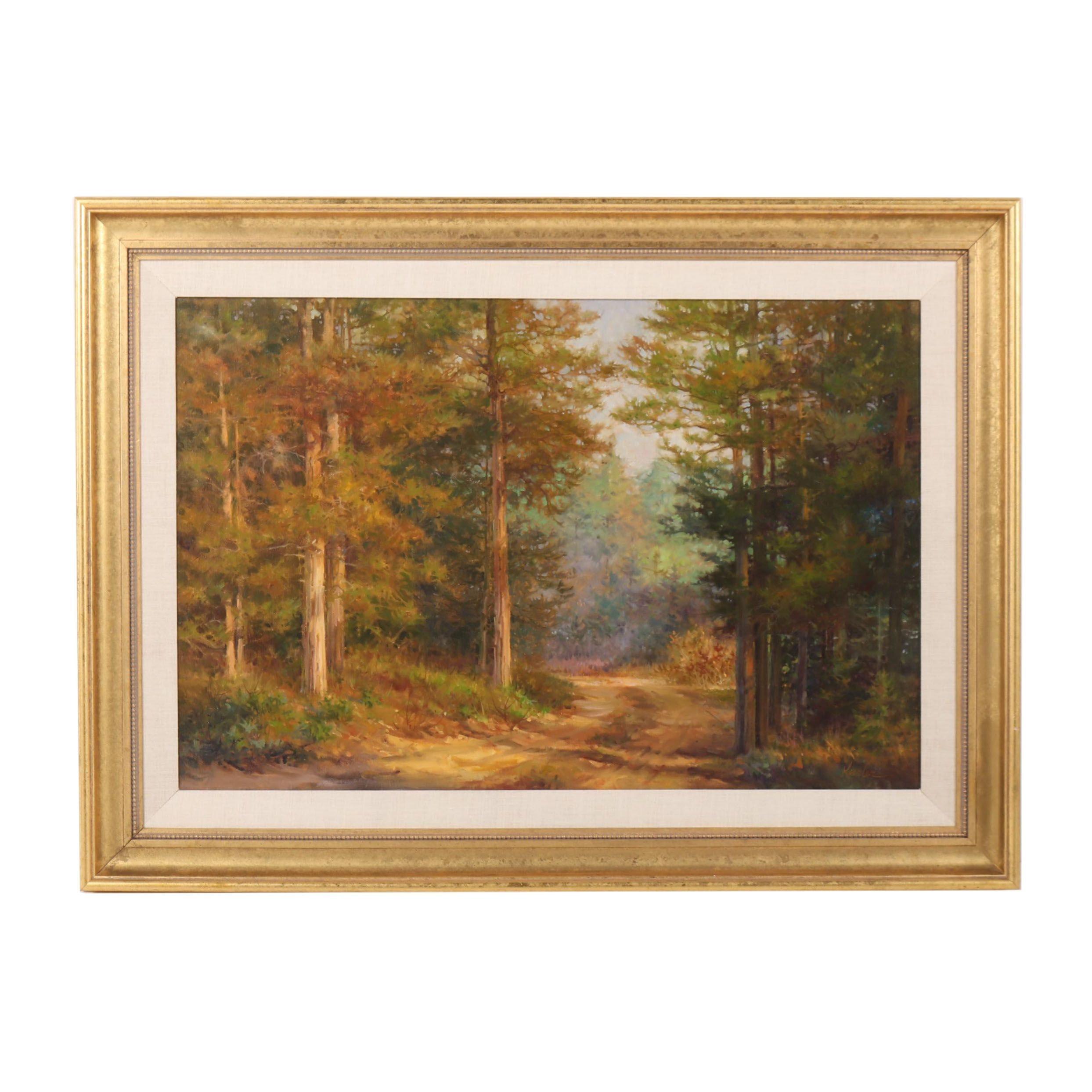 Margaret Kessler Landscape Oil Painting, 20th Century