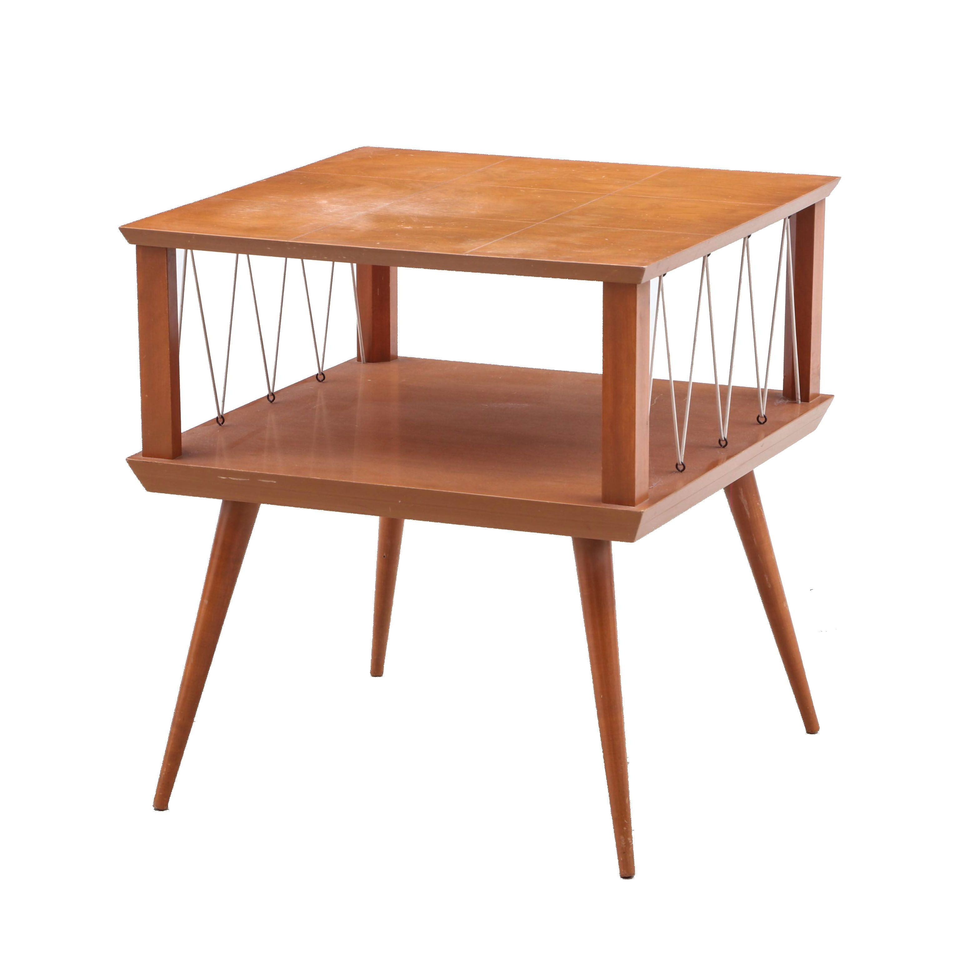 Mid Century Modern Occasional Table in Birch