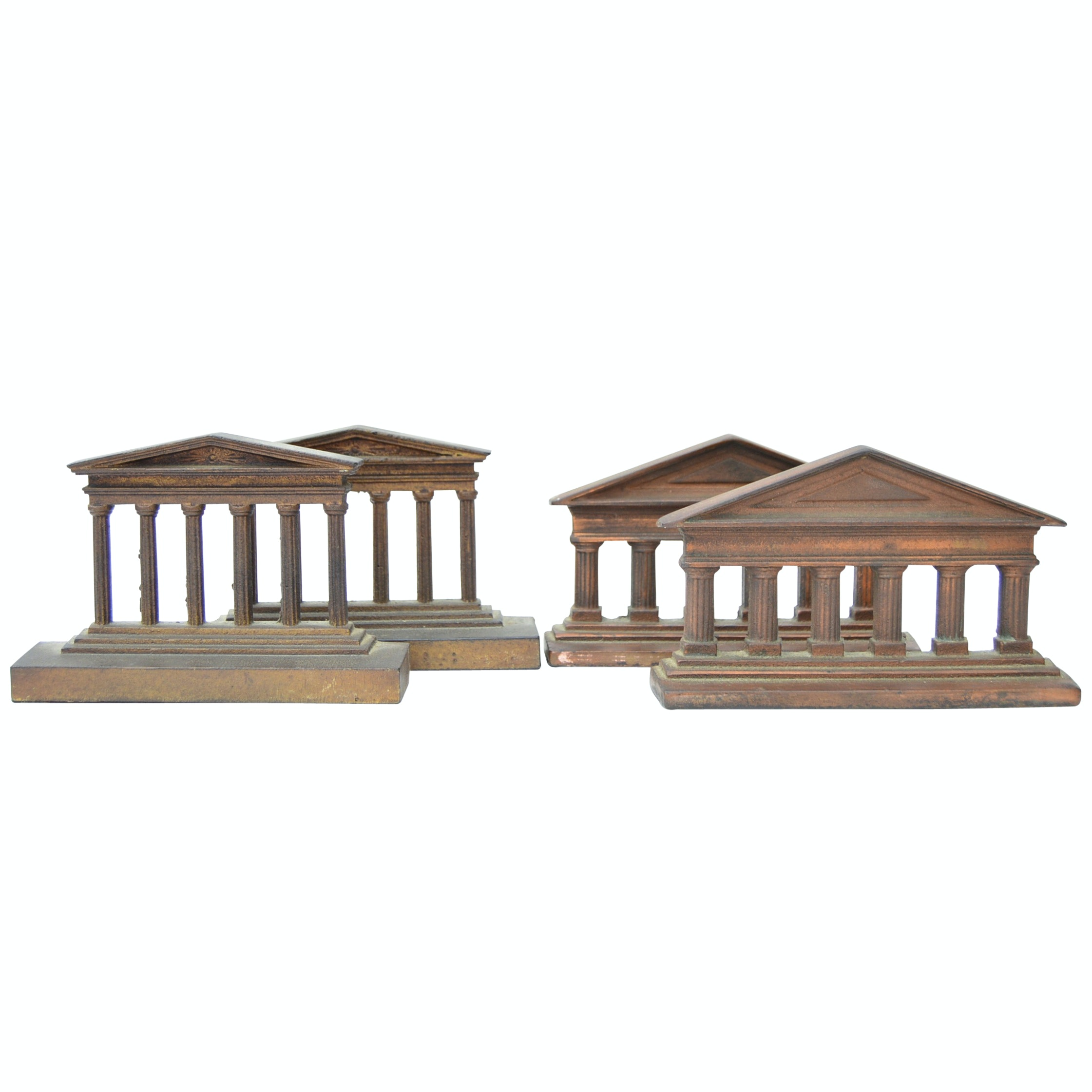 Vintage Iron Parthenon Bookends