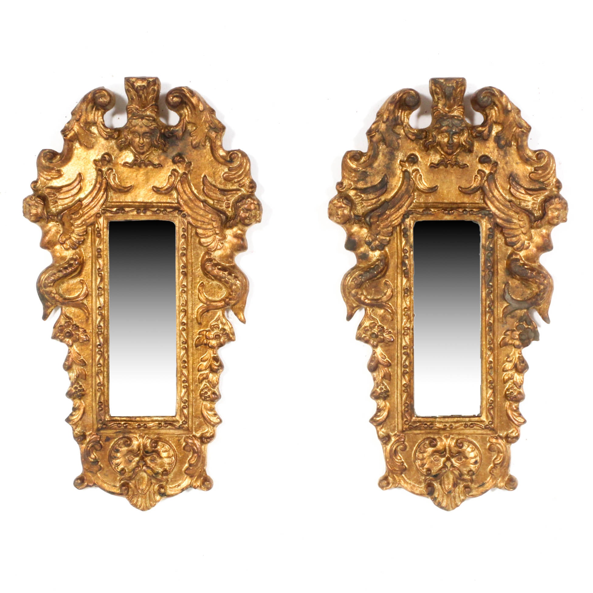 Baroque Gold Mirrors Italian Baroque Style Gold Painted Mirrors ...