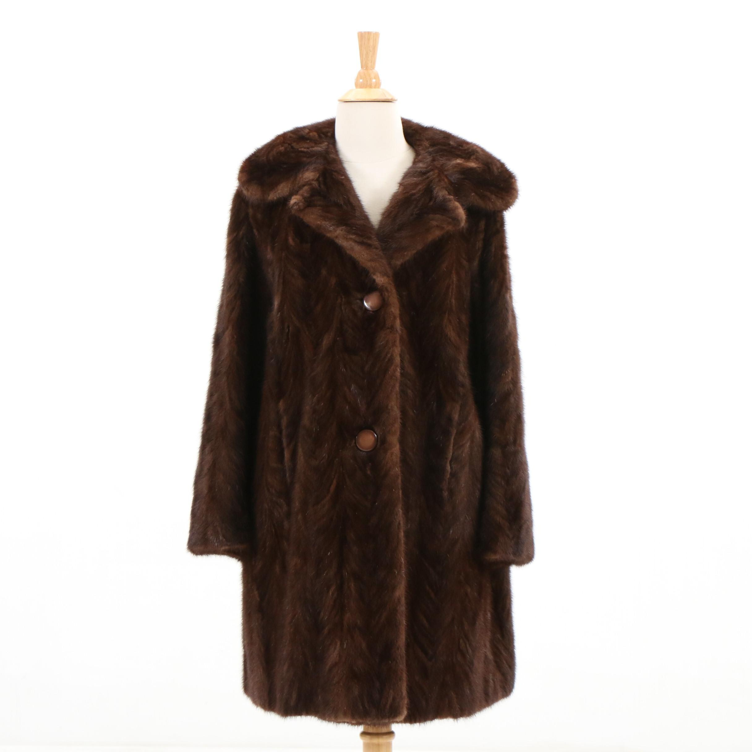 Pogue's Paw Mink Fur Coat, Vintage