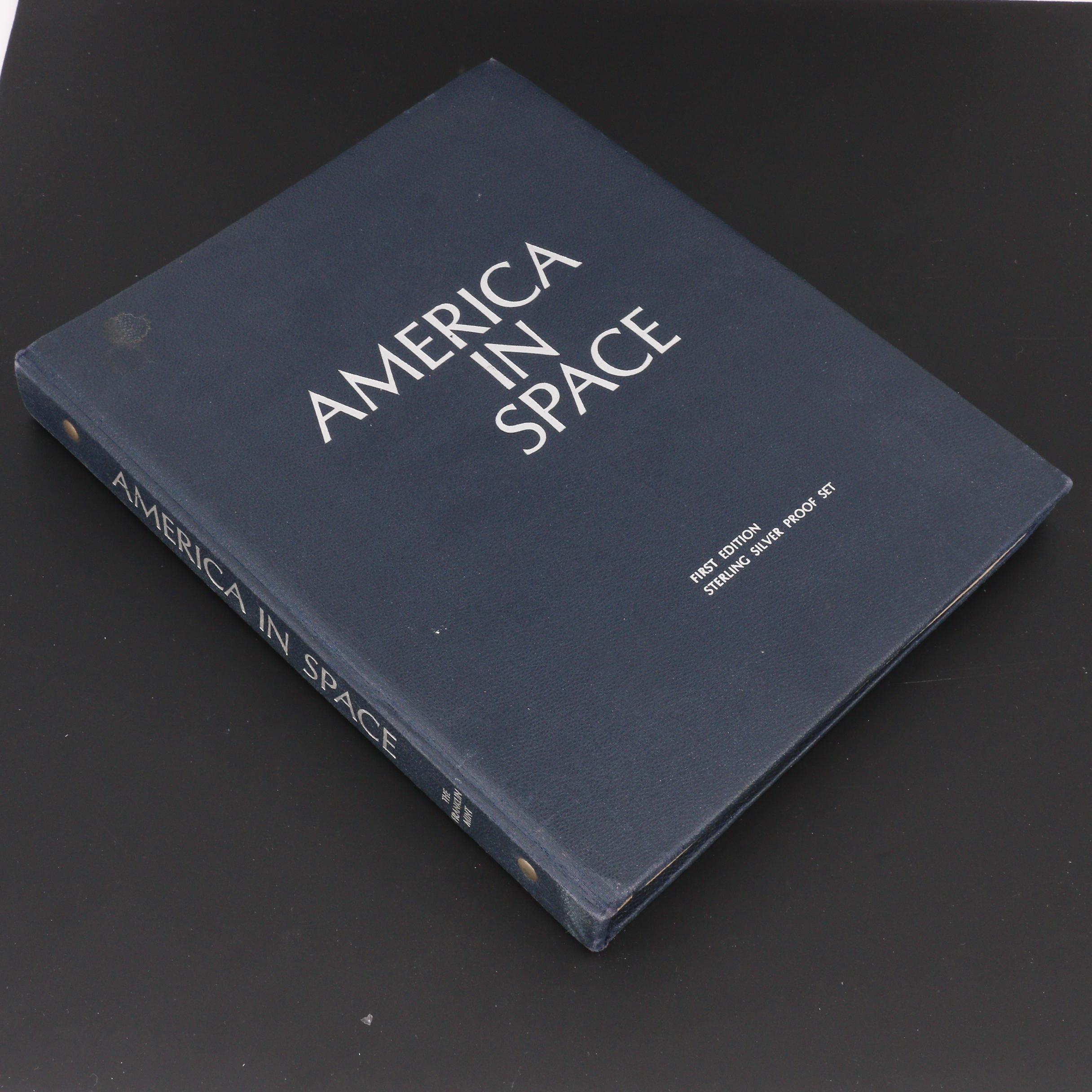 """America In Space"" Franklin Mint Sterling Silver Commemorative Medal Set"
