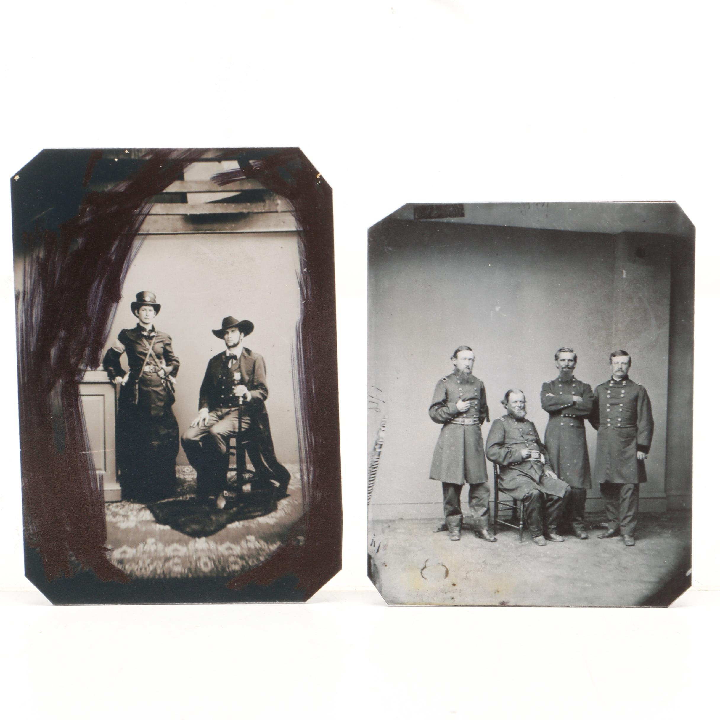 Two Replica Civil War Era Photographic Print Images