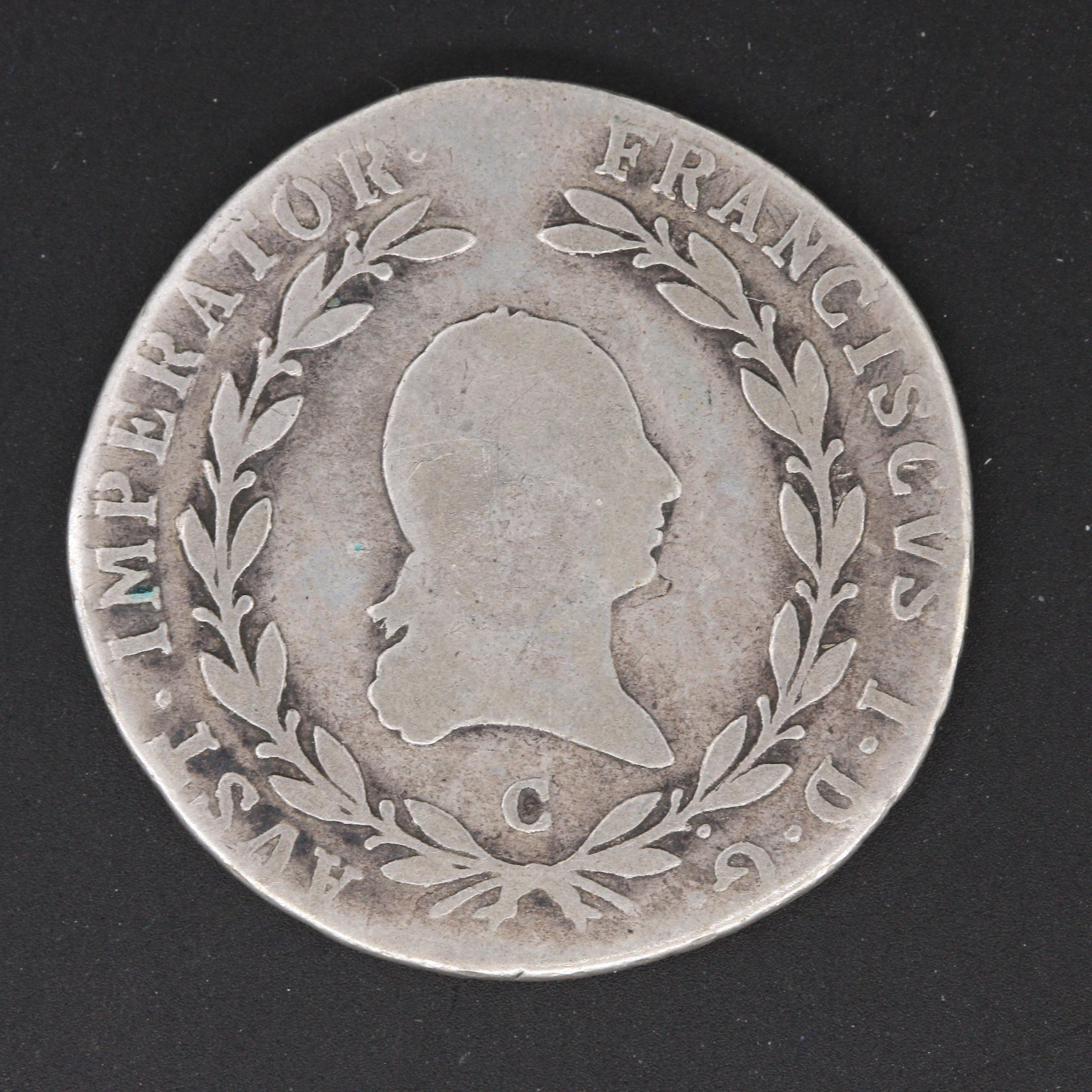 1808 20 Kreuzer Silver Coin from Habsburg, Austria