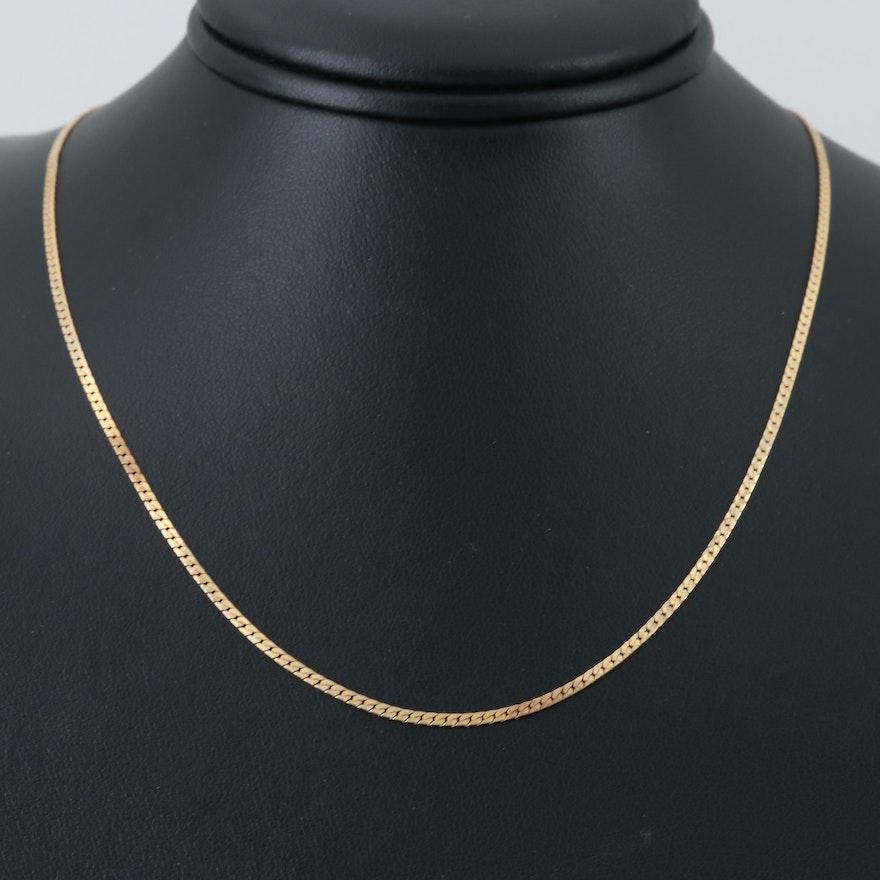 14K Yellow Gold Herringbone Chain   EBTH 4d29968f1