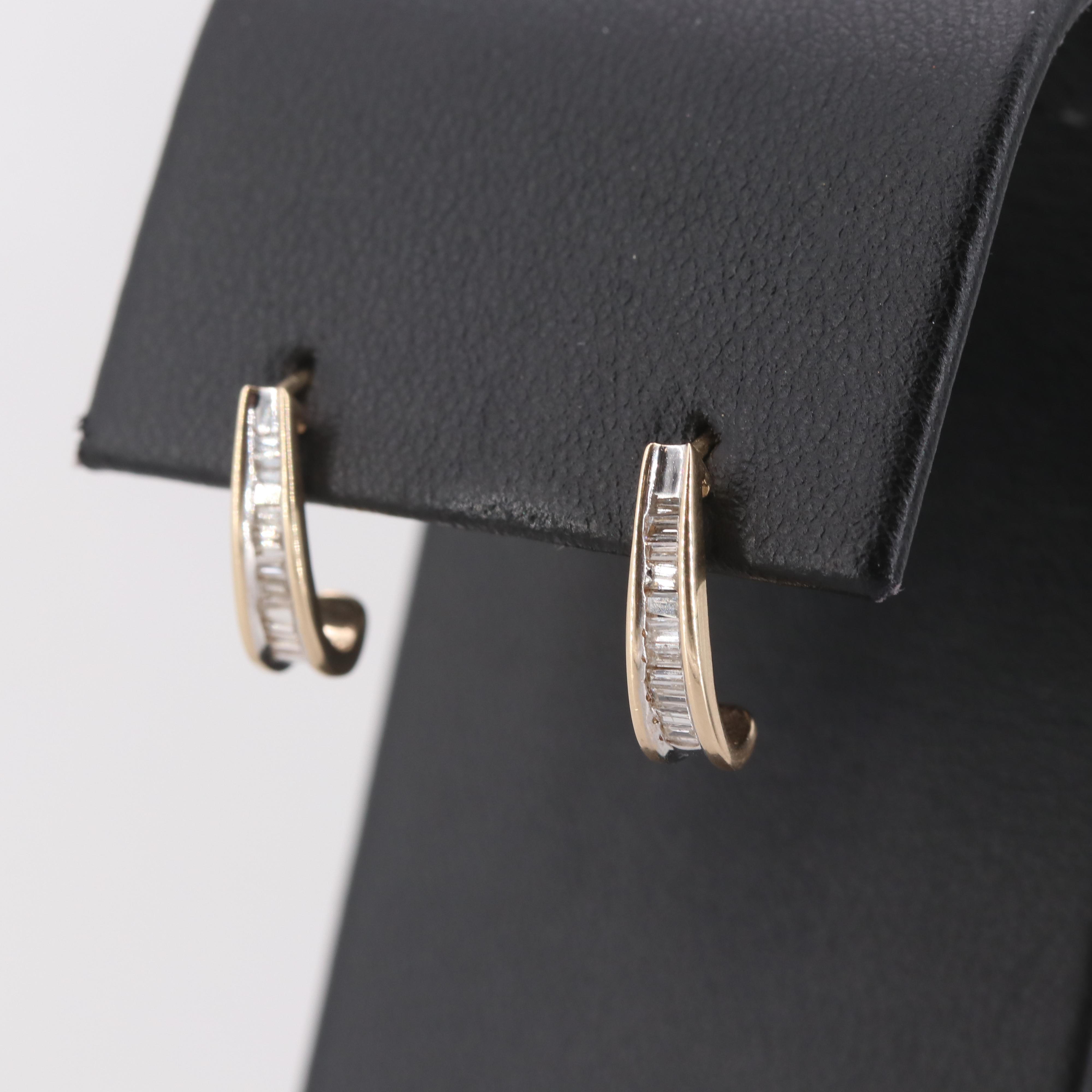 10K Yellow Gold Diamond Earrings