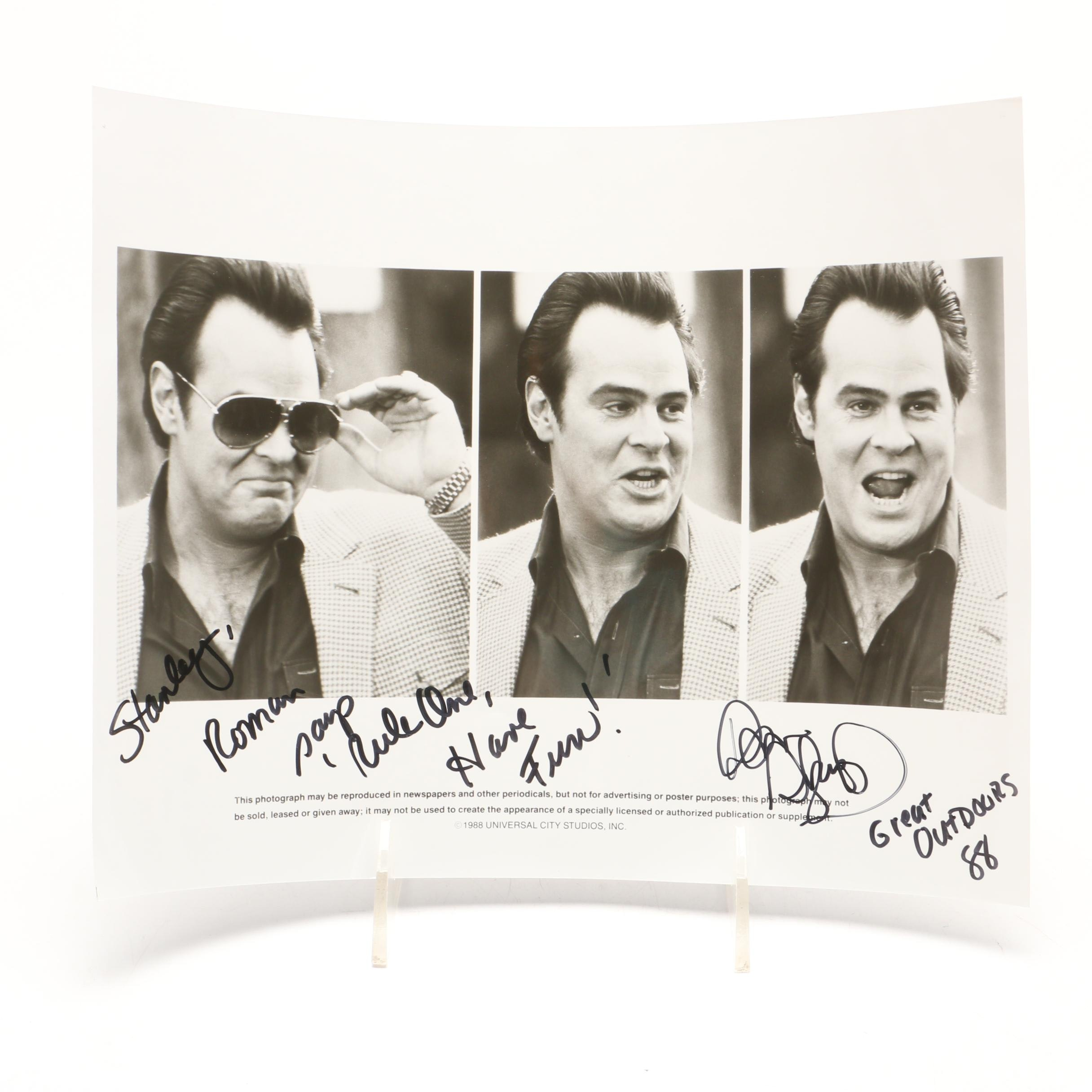 "1988 Dan Aykroyd ""Saturday Night Live"" Signed Publicity Photo Print"