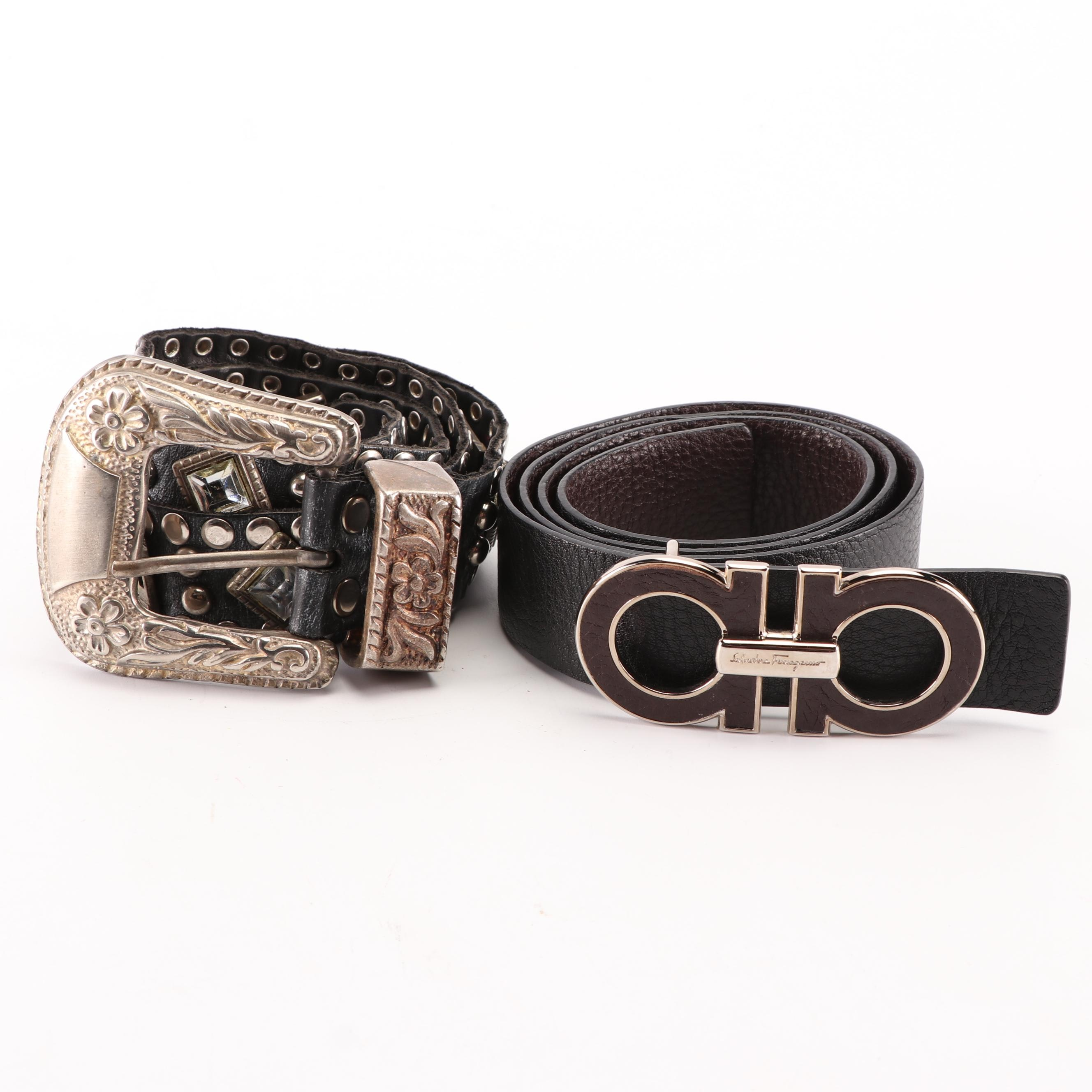 Women's Leather Belts Including Salvatore Ferragmo