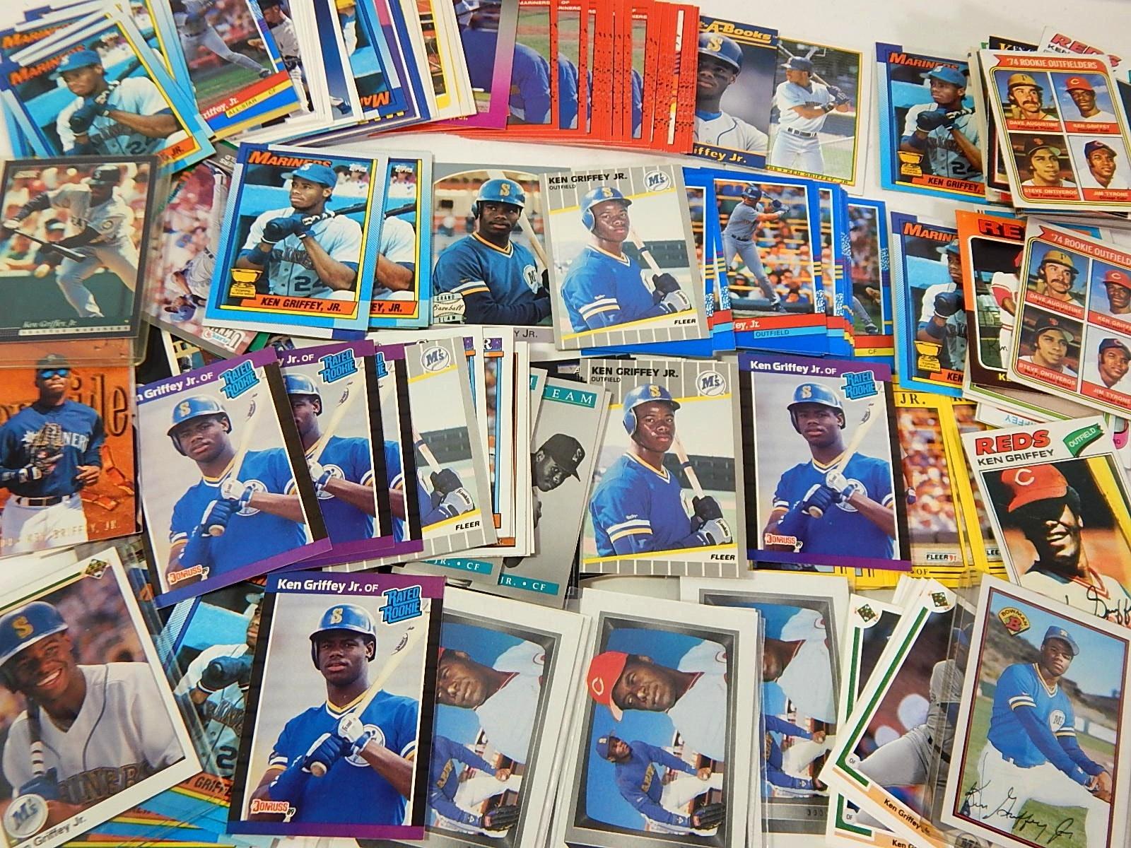 Ken Griffey Sr. and Jr. Baseball Card Collection
