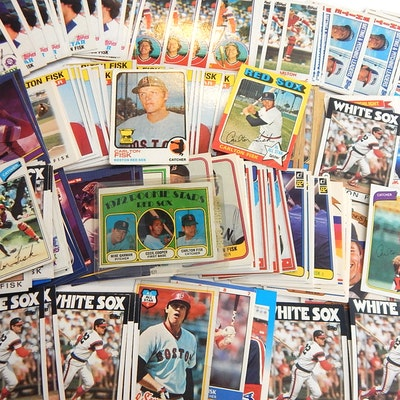 5b7f9411a4 (HOF) Carlton Fisk Baseball Card Collection form 1970s and 1980s with RC