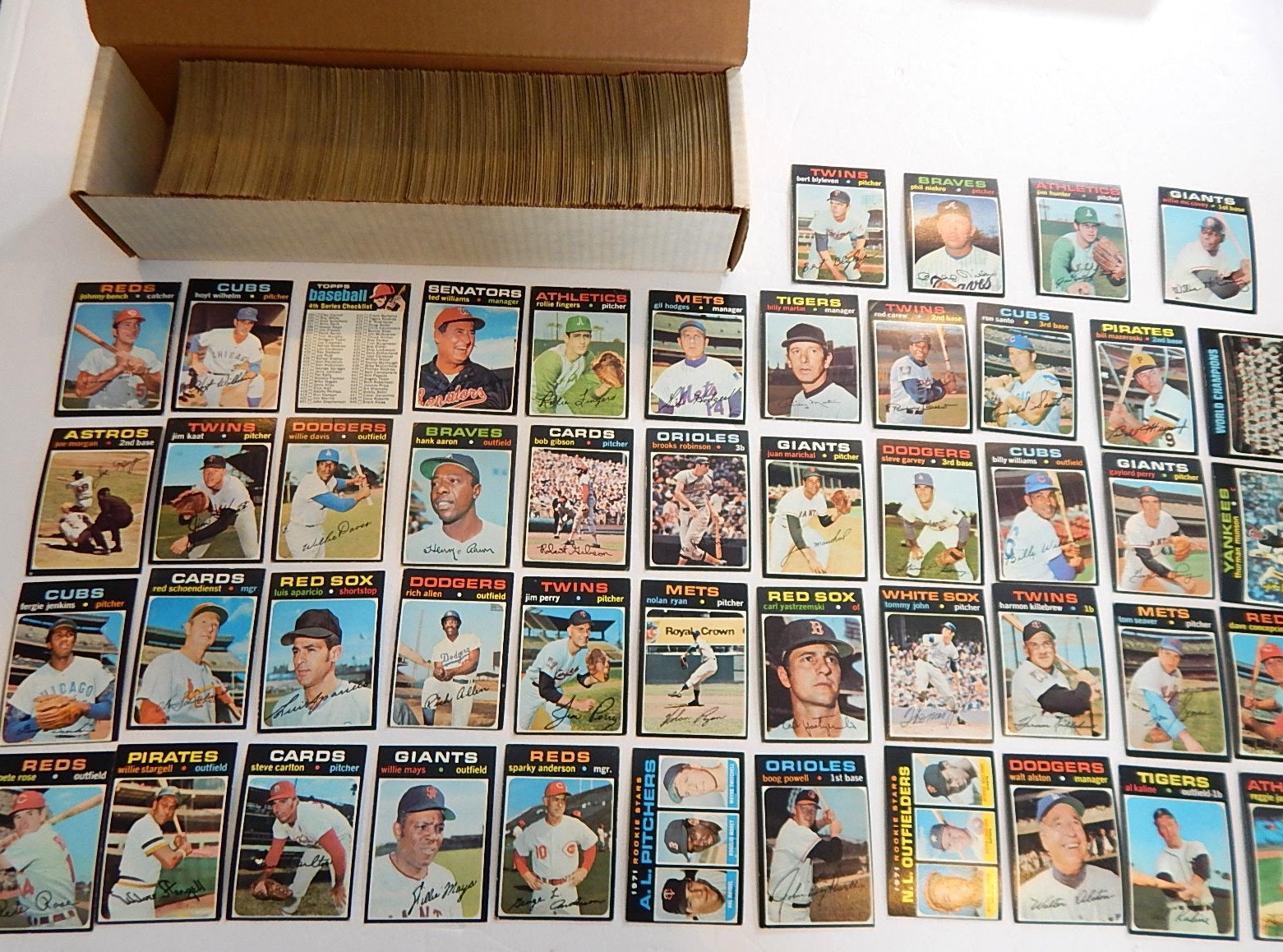 1971 Topps Baseball Card Partial Set with HOF and Stars