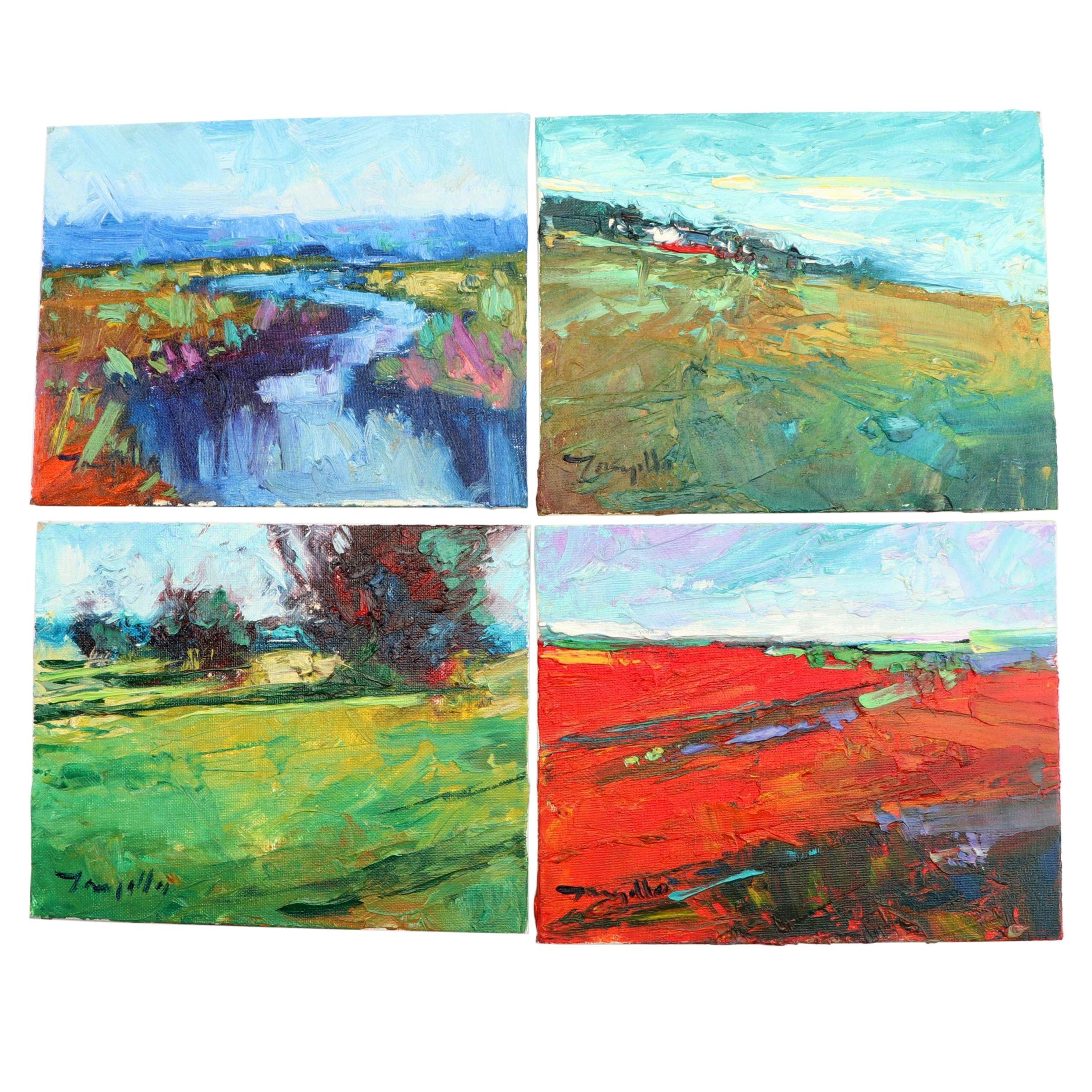 Jose Trujillo Impressionistic Landscape Oil Paintings