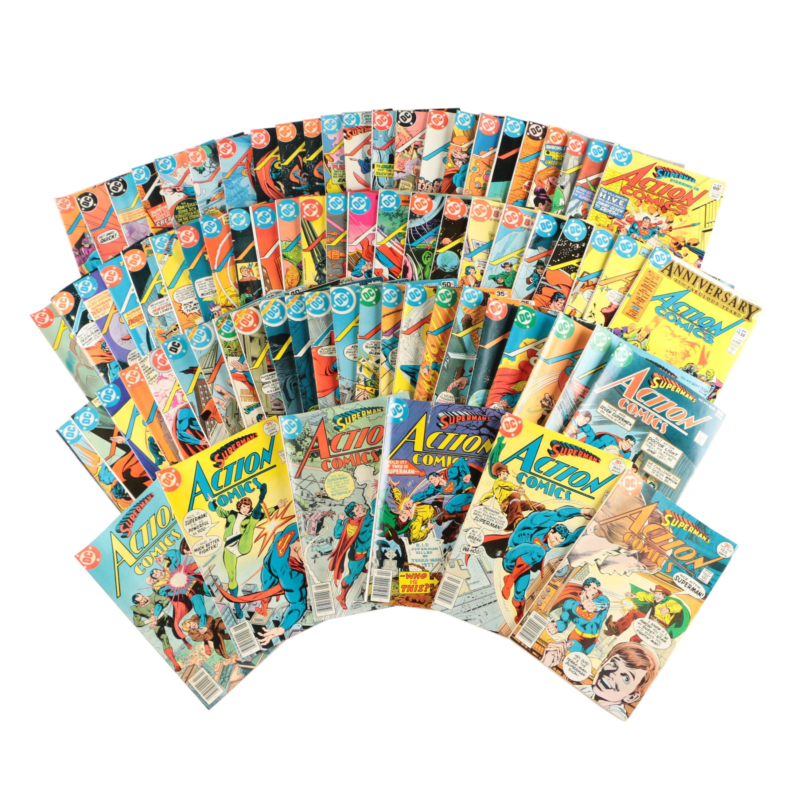 "Bronze Age DC Comcis ""Action Comics"" Comic Books, 1970s-80s"