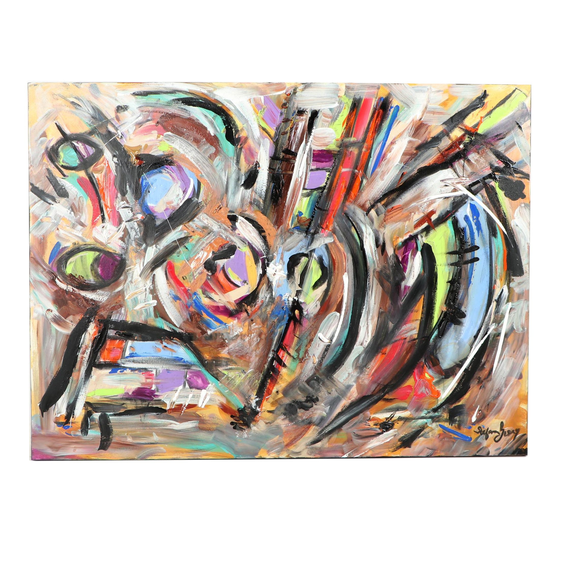 "Stefan Georg Acrylic Painting ""Shake It Up"""