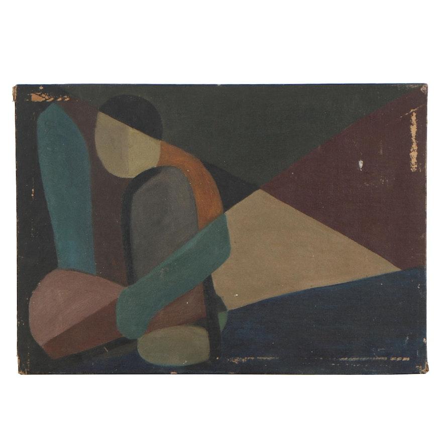 W. Glen Davis Abstract Oil Painting