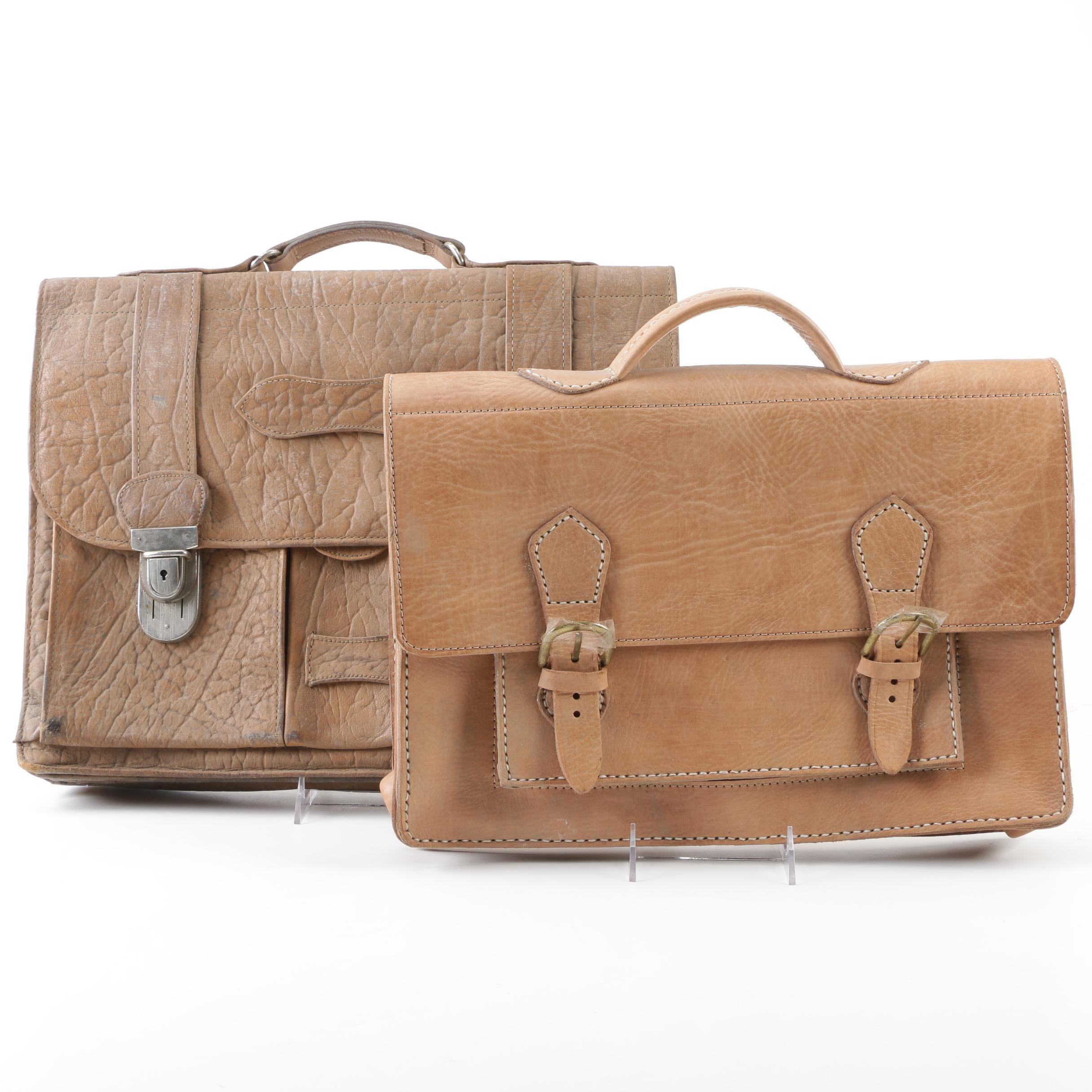 "Moroccan Leather ""Travelers"" Briefcases"