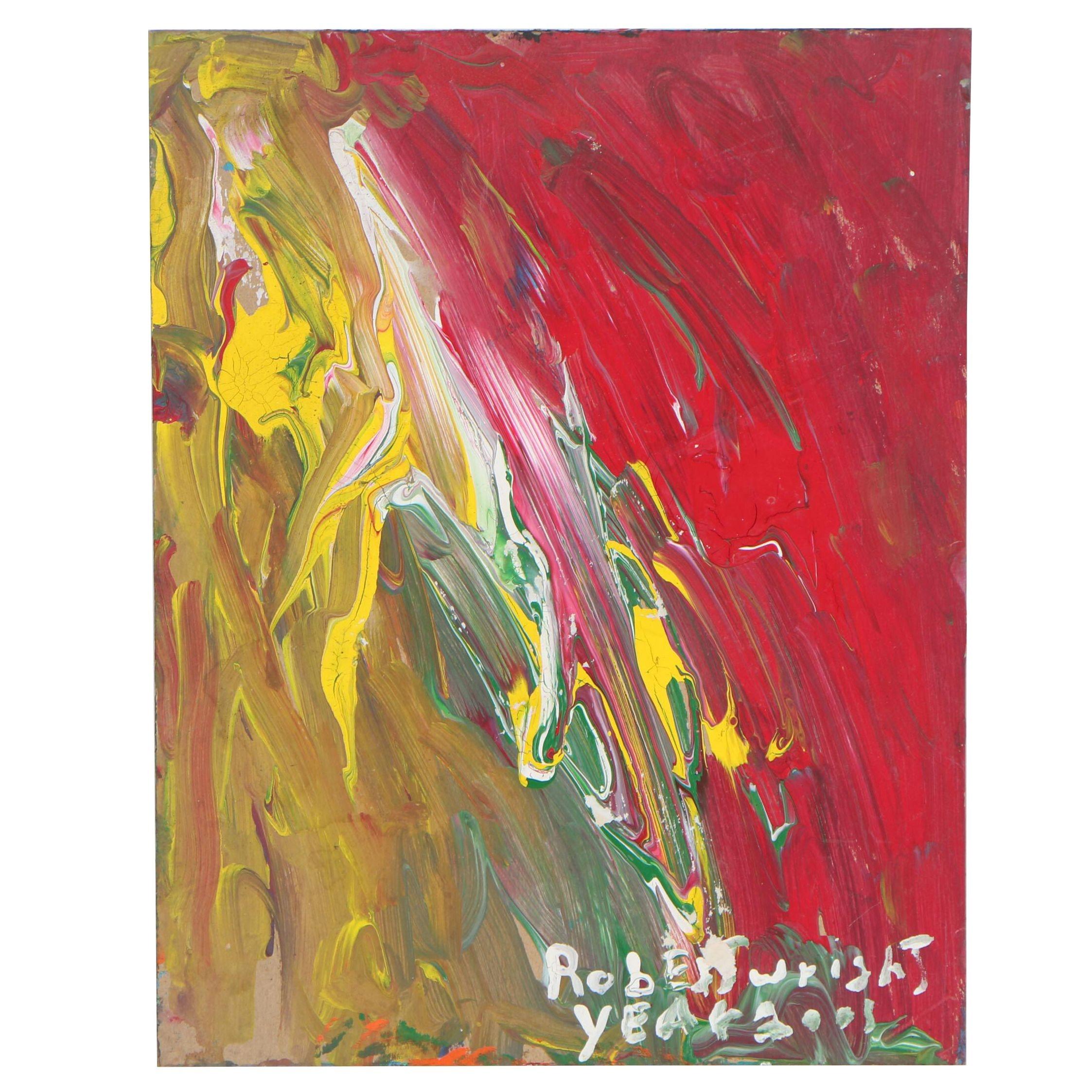 Robert Wright Abstract Folk Oil Painting