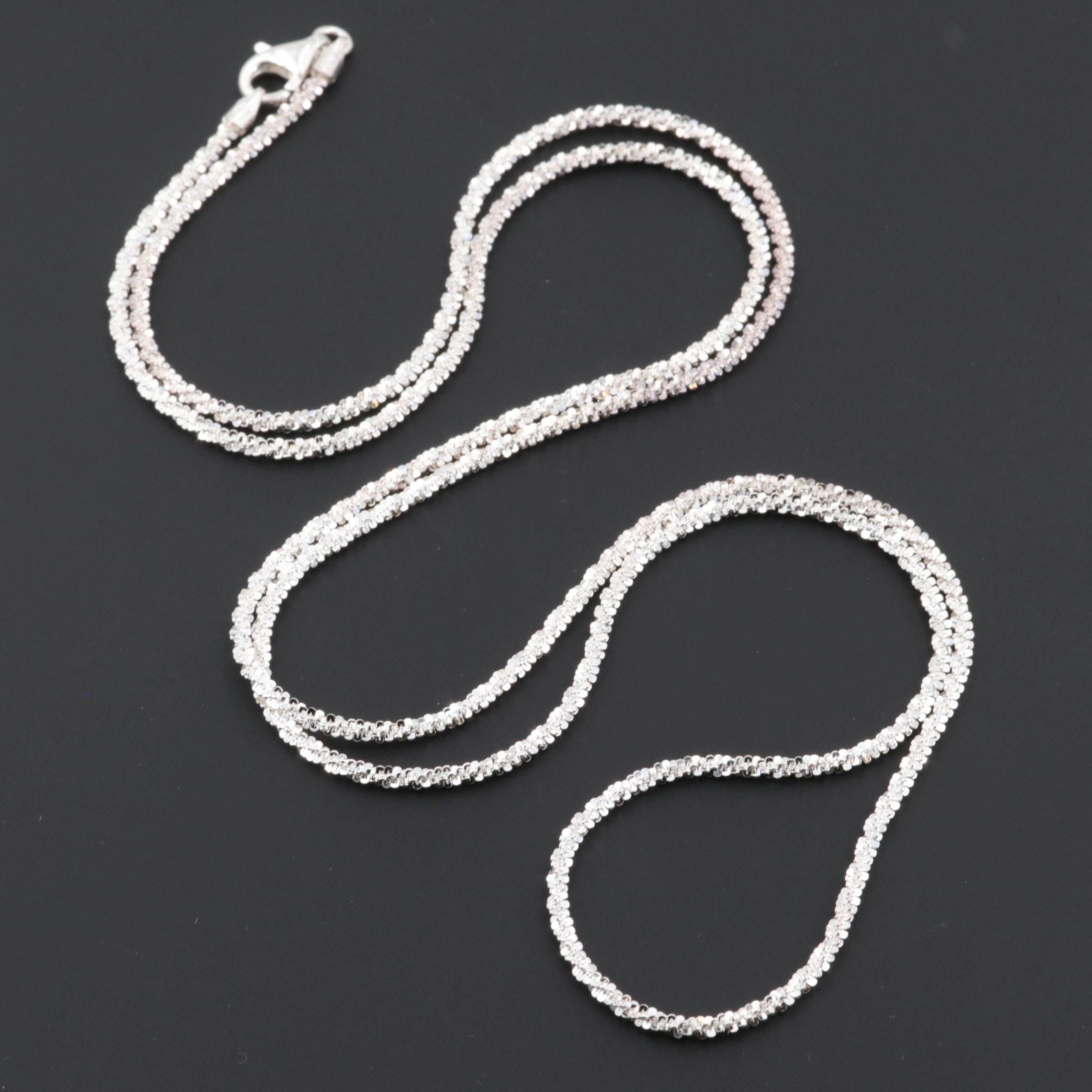 Sterling Silver Fancy Chain Link Necklace