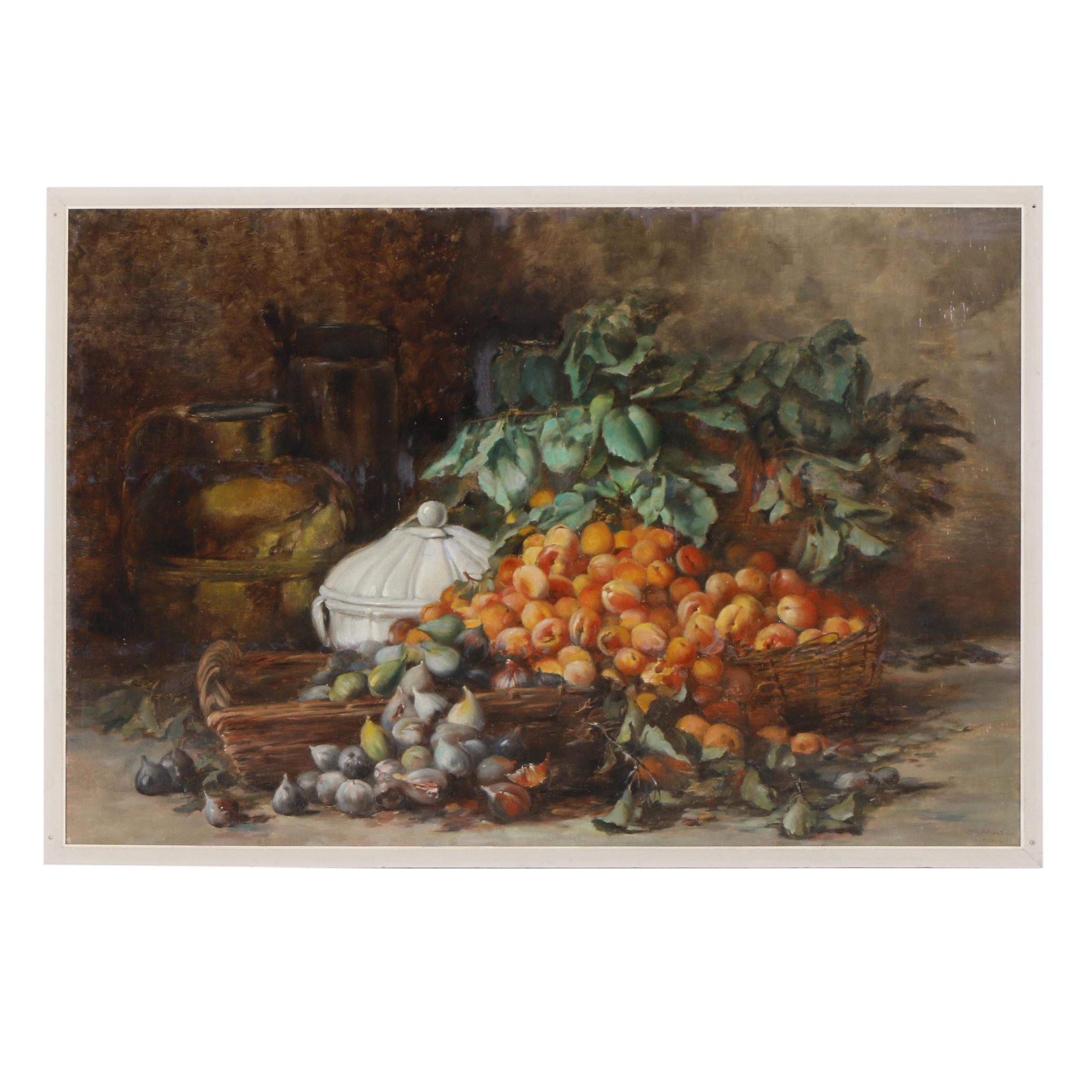 Large-Scale Still Life Oil Painting