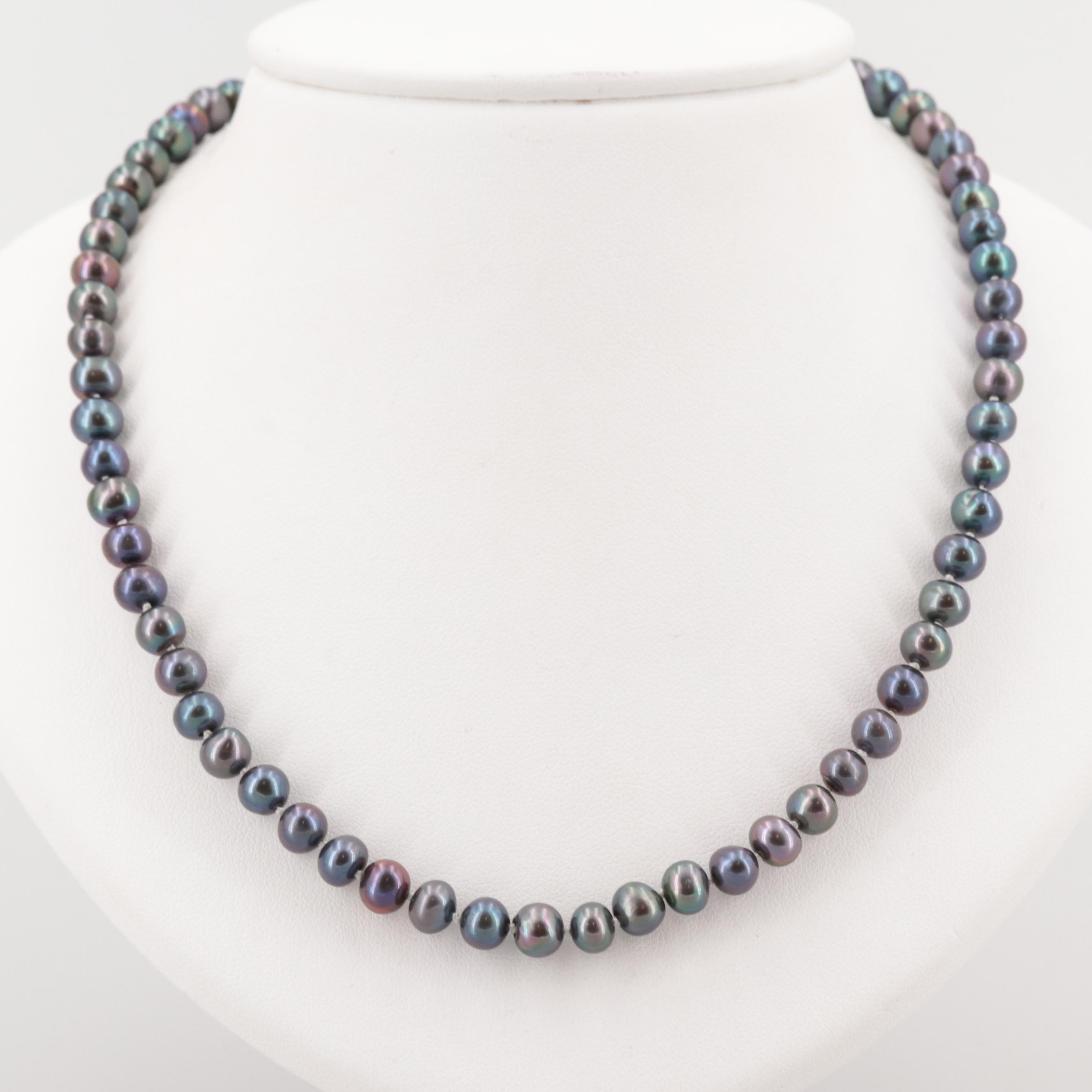 Museum of Fine Arts Boston Sterling Silver Cultured Pearl Necklace