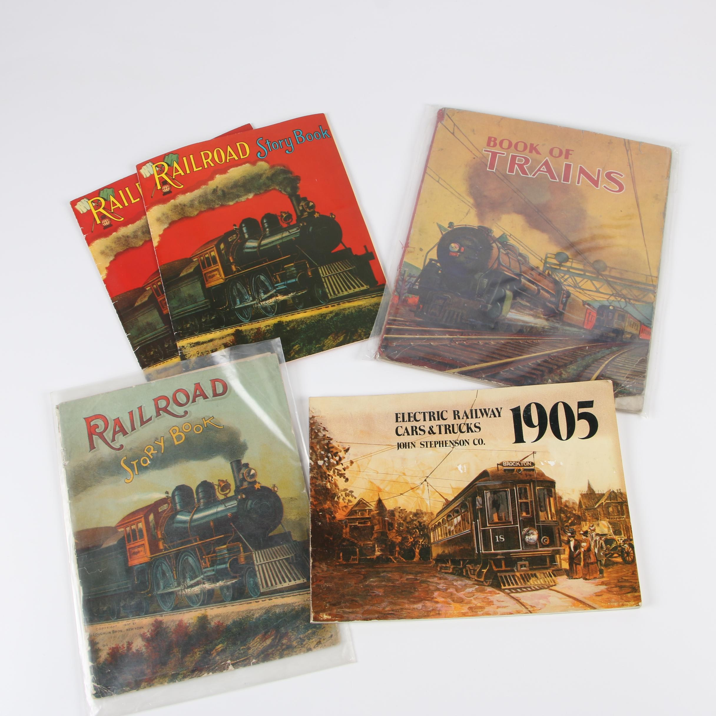 """Books on Trains featuring """"Railroad Story Book,"""" 1903"""