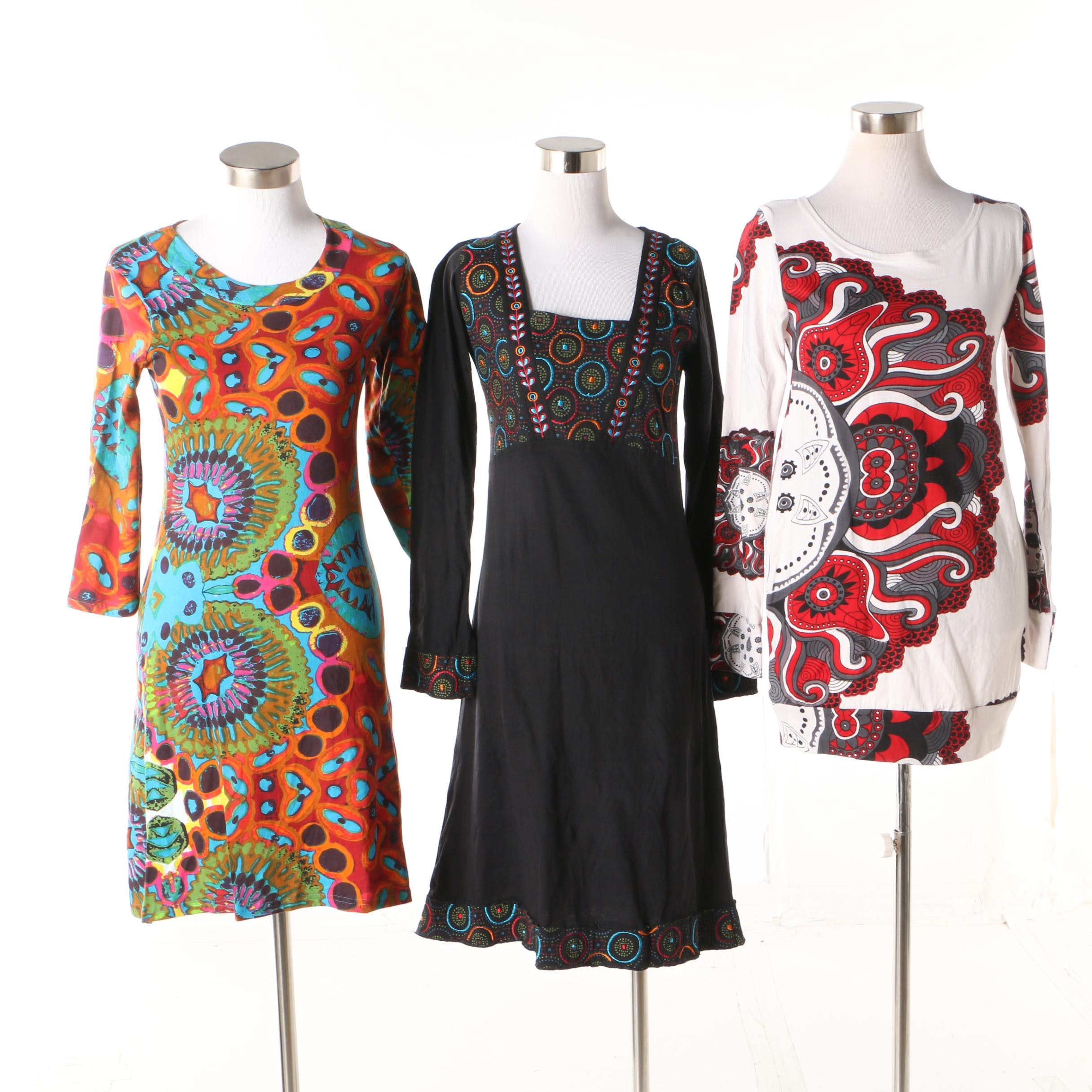 Aller Simplement Cotton Dresses and Tunic