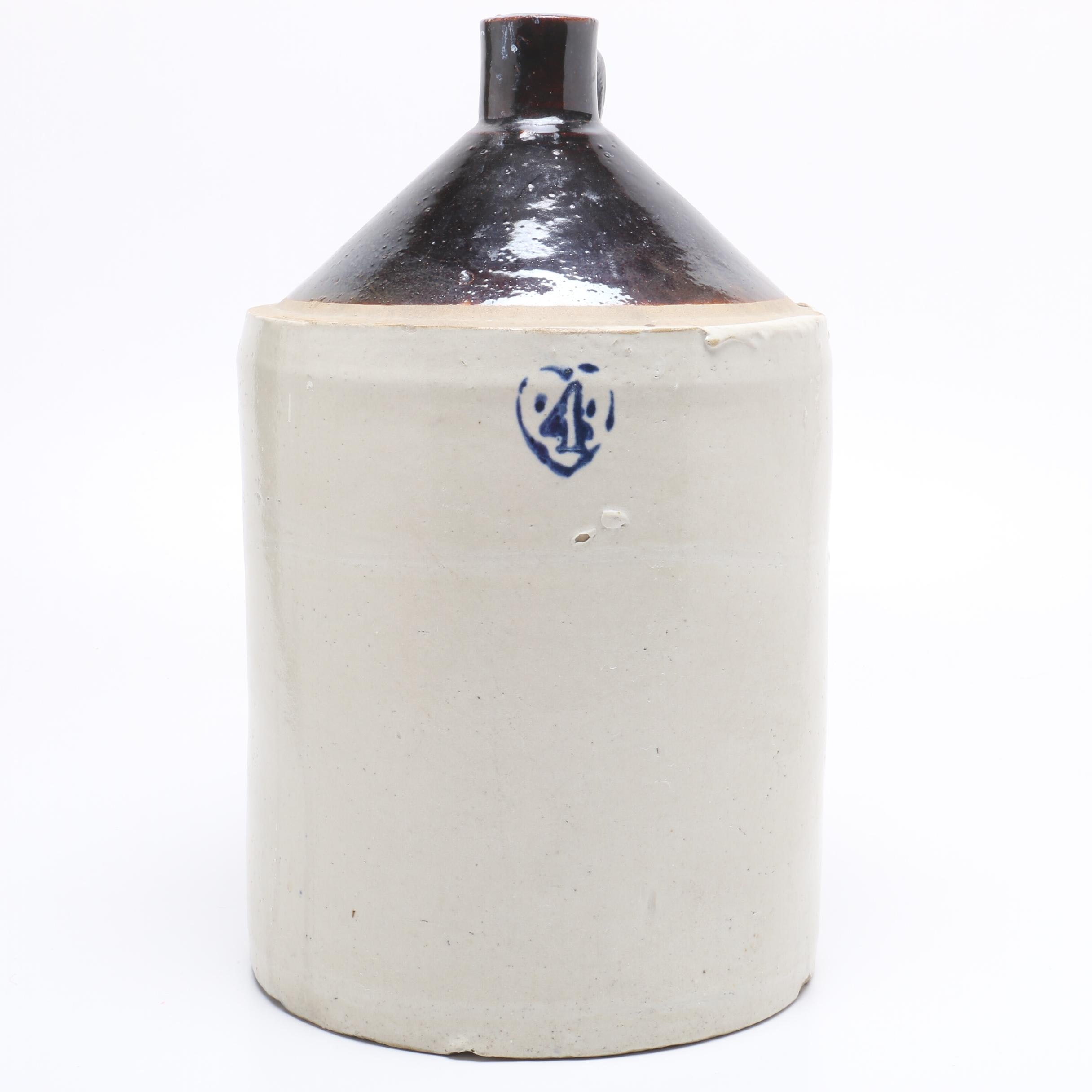 Four Gallon Stoneware Jug with Albany Slip Top