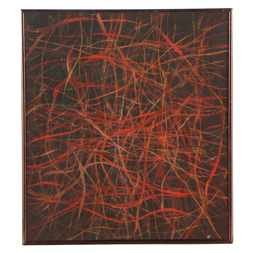 W. Glen Davis 1972 Abstract Oil Painting