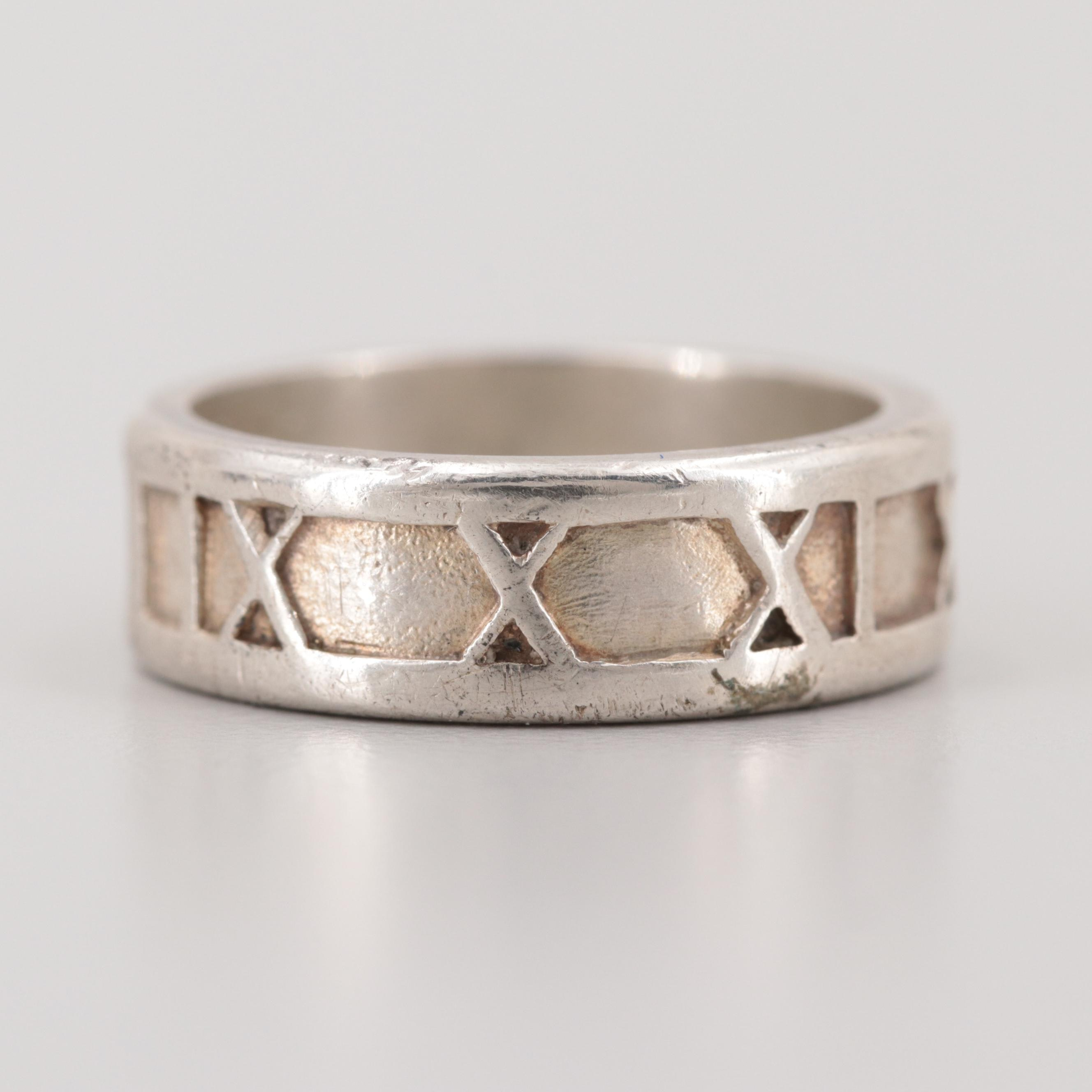 Tiffany & Co. Sterling Silver Atlas Collection Ring