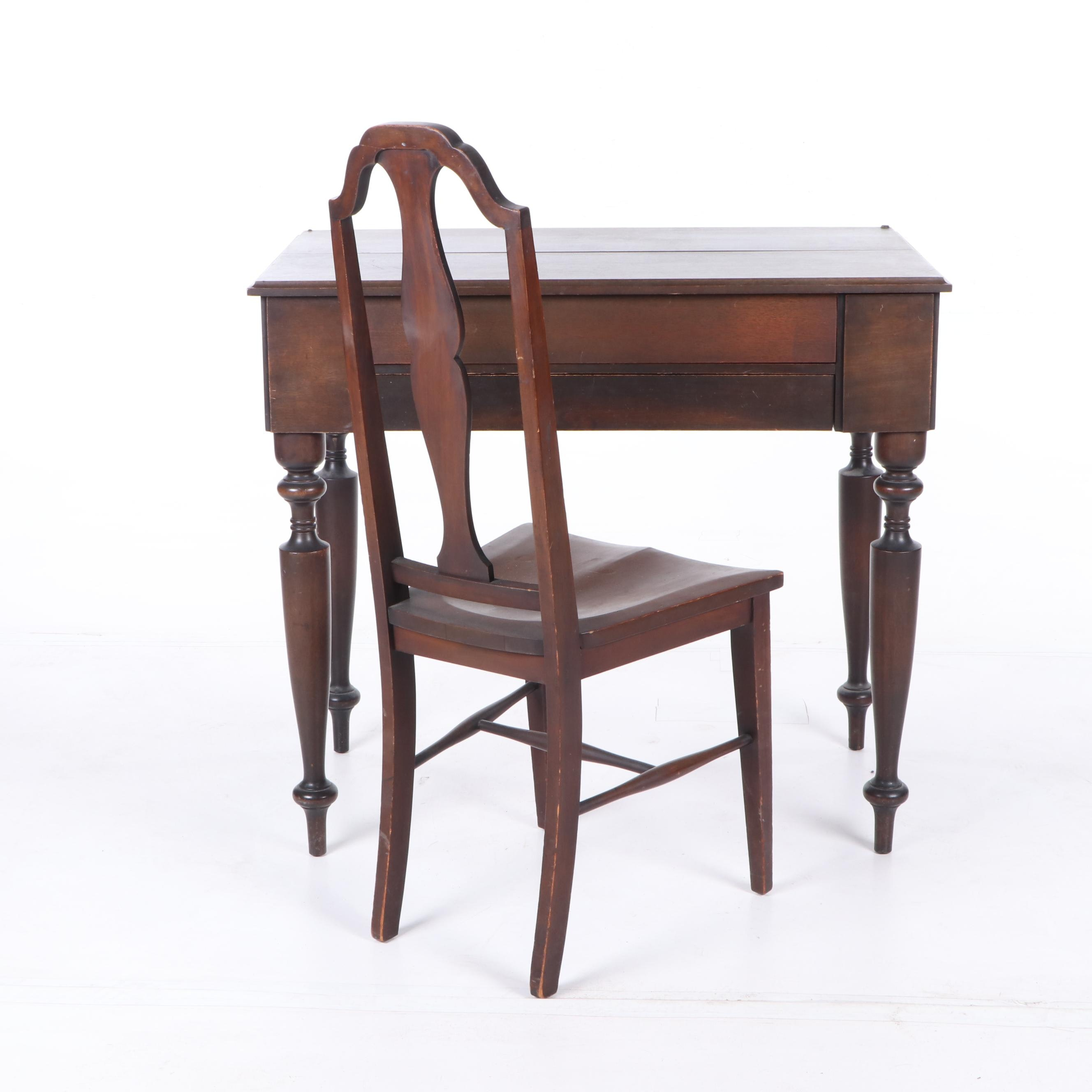 Colonial Manufacturing Company Desk and Chair