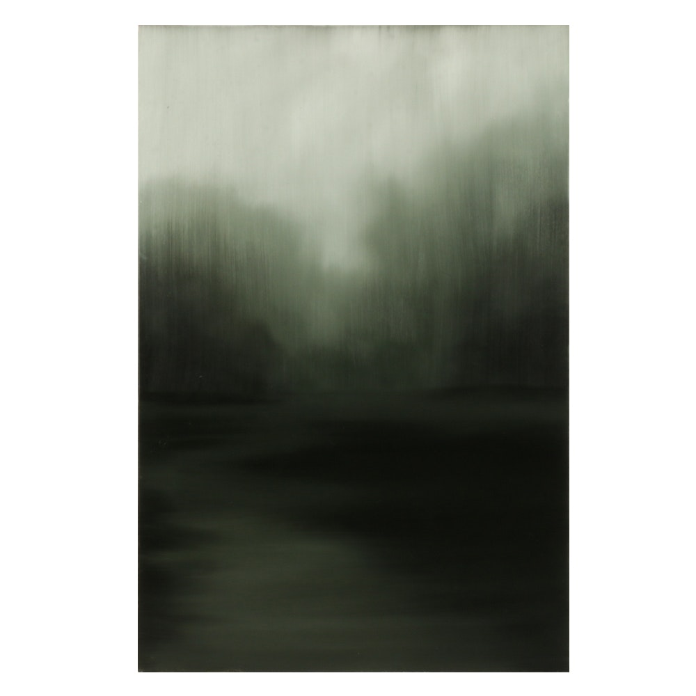 "Sarah Brown Oil Painting ""Moonlight"""