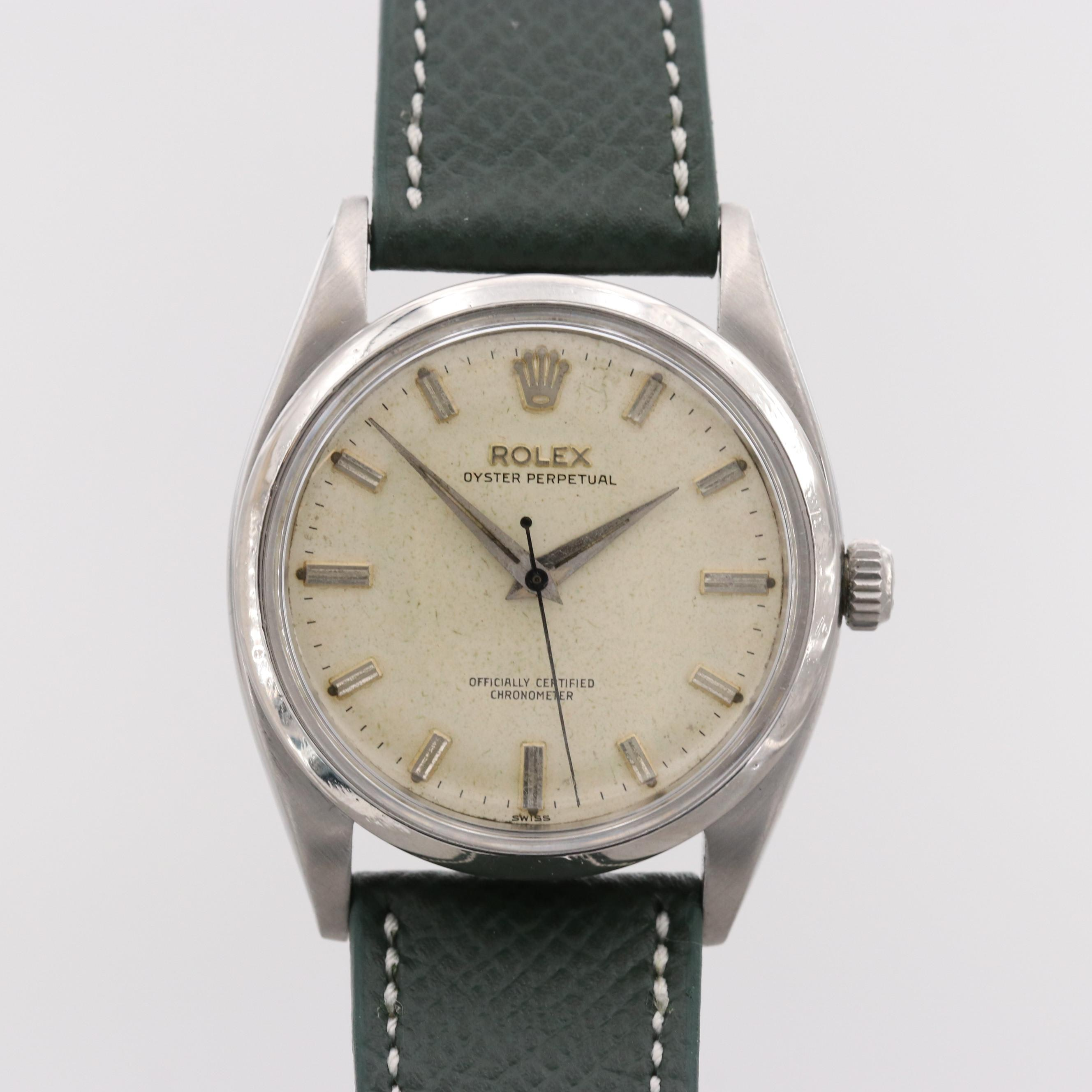 Rolex Oyster Perpetual Stainless Steel Wristwatch, 1957