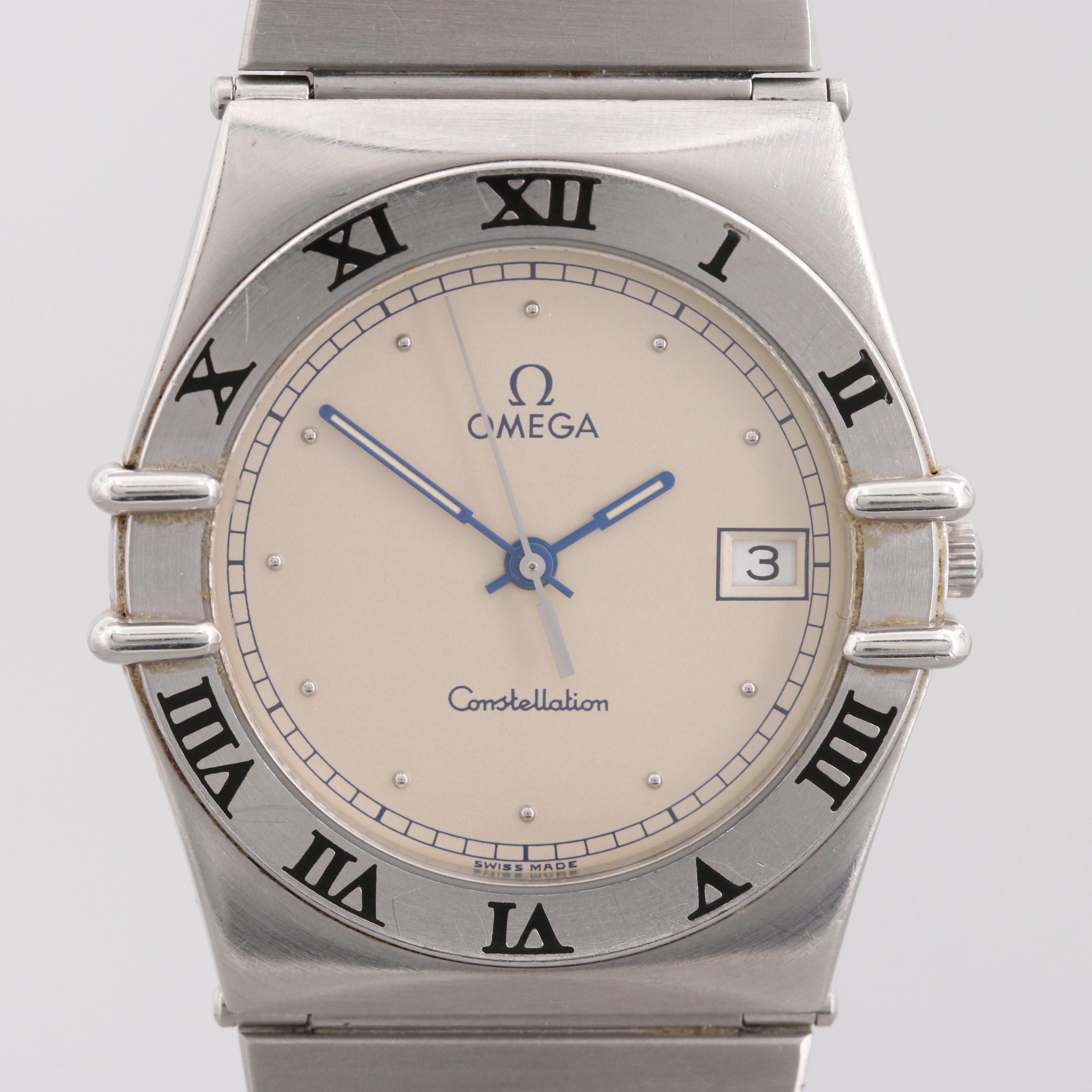 Omega Constellation Quartz Wristwatch With Date Window