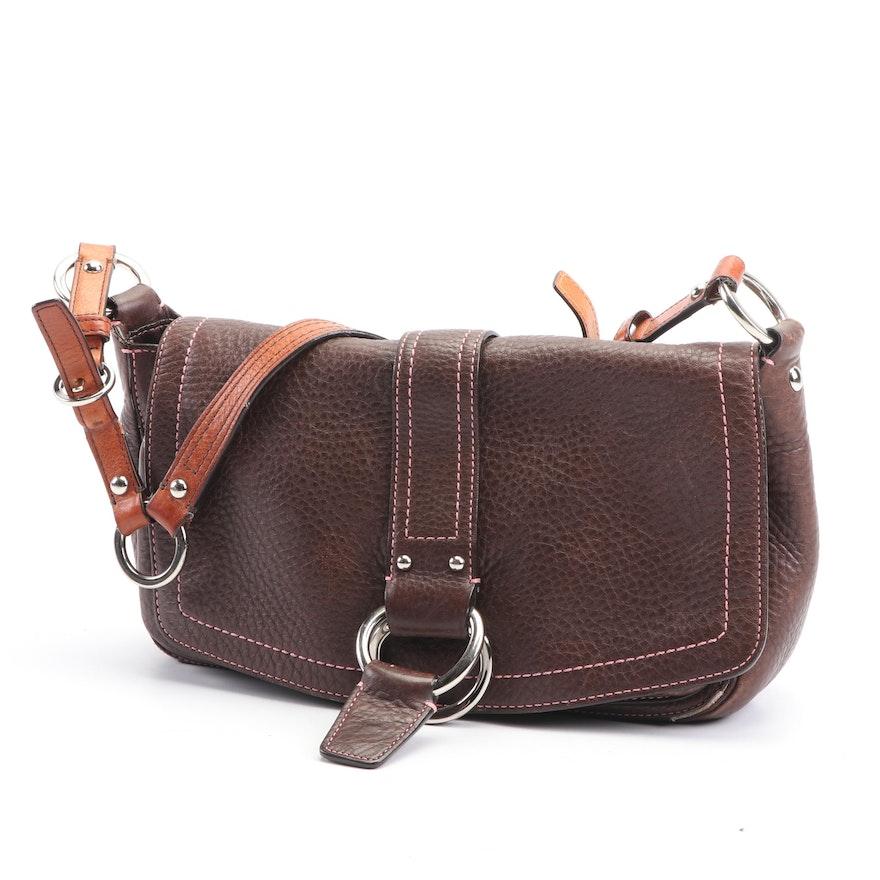 165b76c23bd Coach Chelsea Brown Pebbled Leather Shoulder Bag, 2006 | EBTH